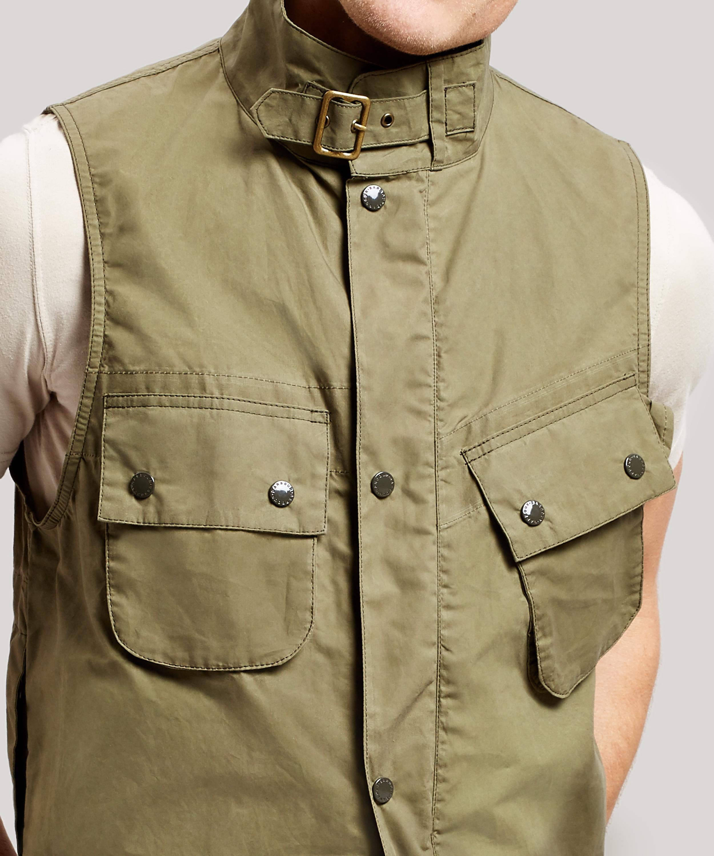 b01d47fd3da78 Barbour X Engineered Garments Arthur Drawstring Gilet in Green for ...
