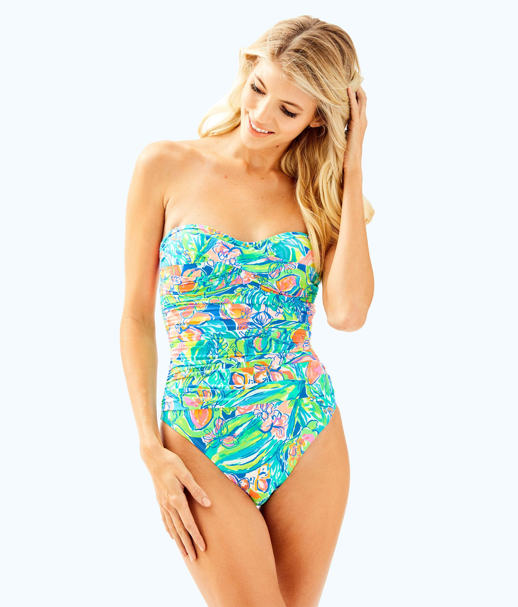 6de7936254 Lilly Pulitzer Flamenco One Piece Swimsuit in Blue - Lyst