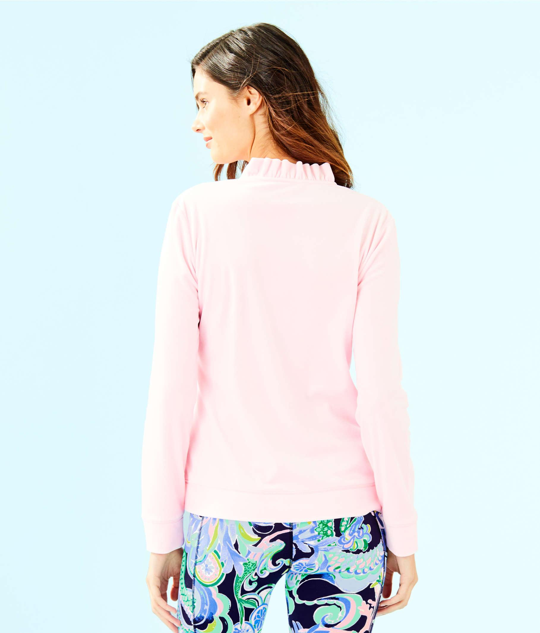 d5d9860cf5 Lyst - Lilly Pulitzer Jayla Velour Ruffle Zip Up Jacket in Pink