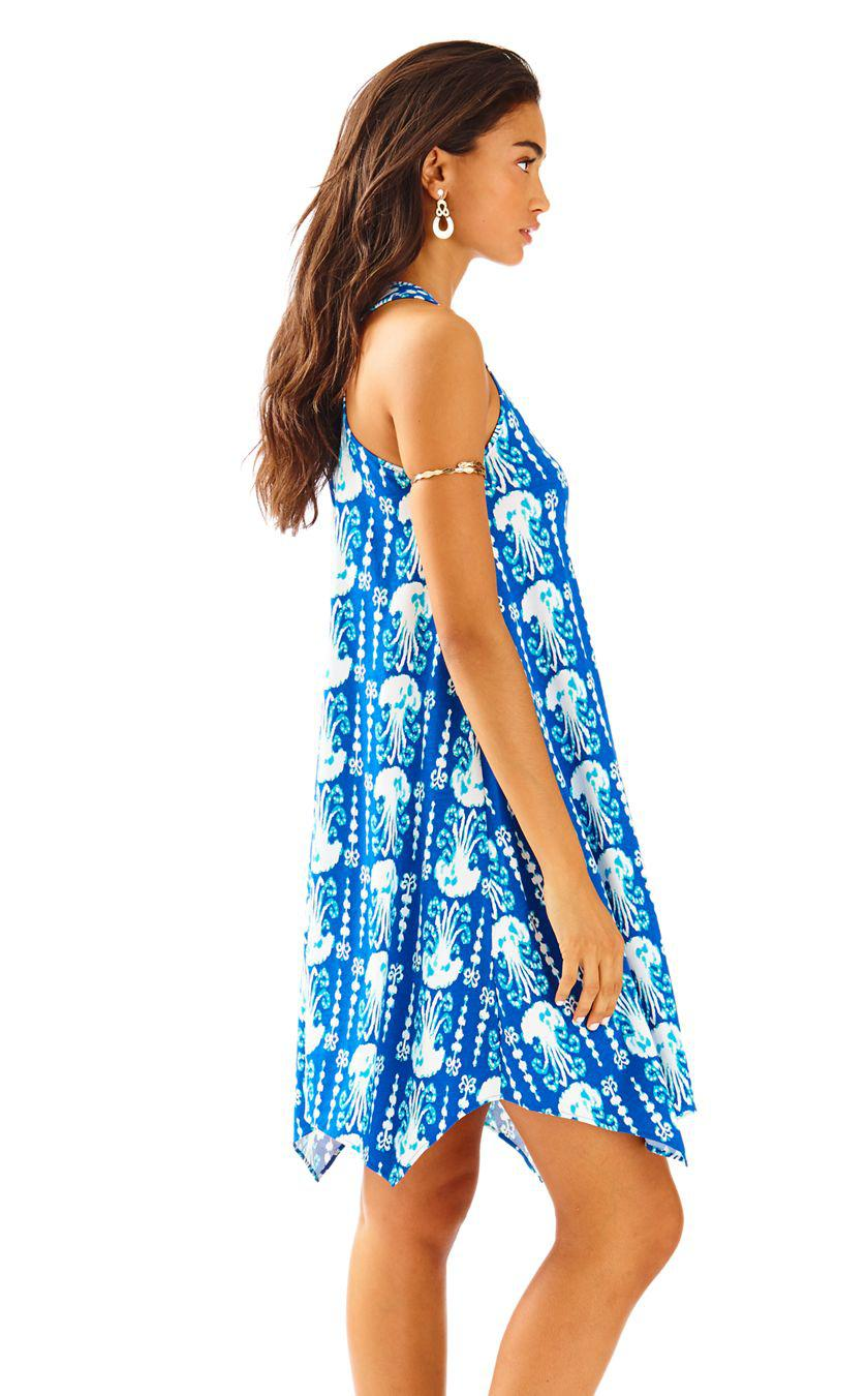09b9d920c14628 Lilly Pulitzer Melle Trapeze Tank Dress in Blue - Lyst