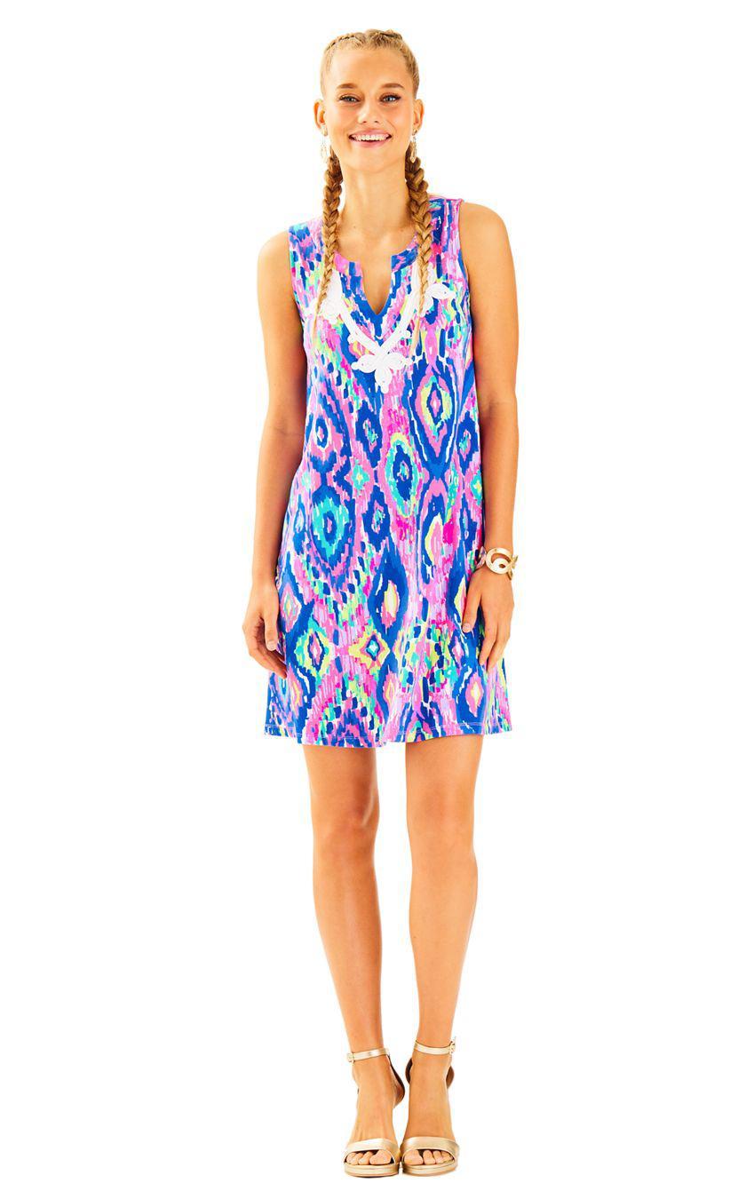 1535f445b8b Lyst - Lilly Pulitzer Gemma Swing Dress in Blue