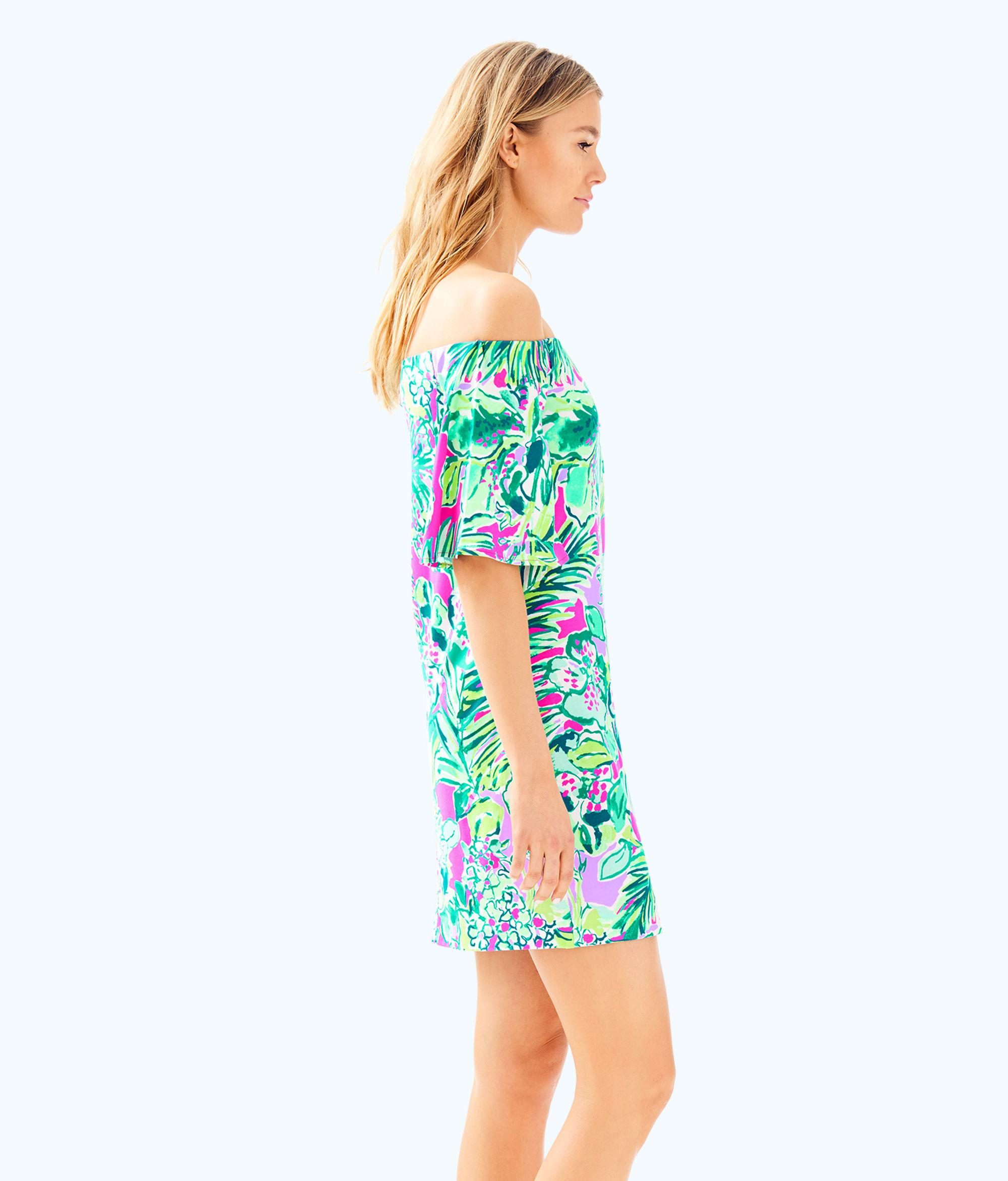 2fe58c95550 Lilly Pulitzer Lilly Pulitzer Fawcett Off The Shoulder Dress in Blue ...