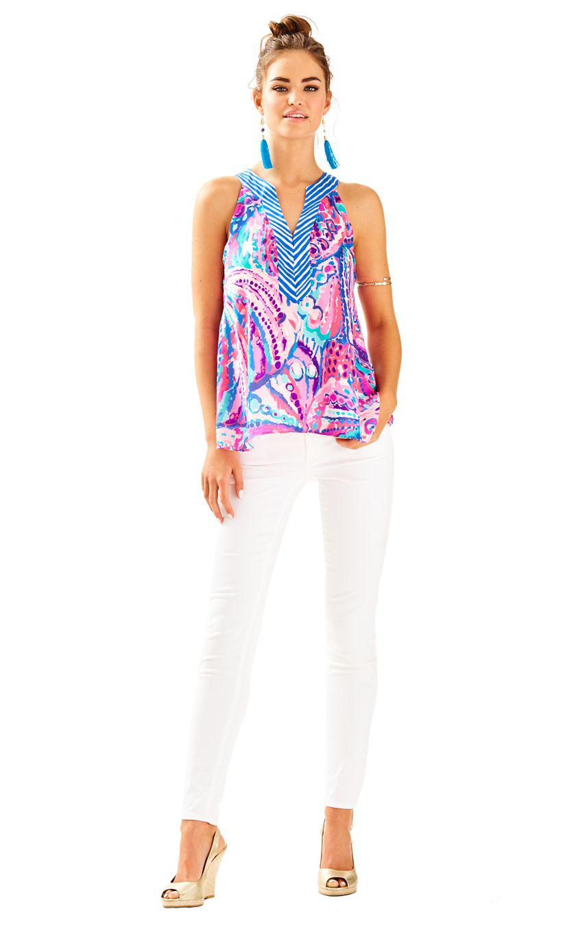756738d6582748 Lyst - Lilly Pulitzer Achelle Top in Blue