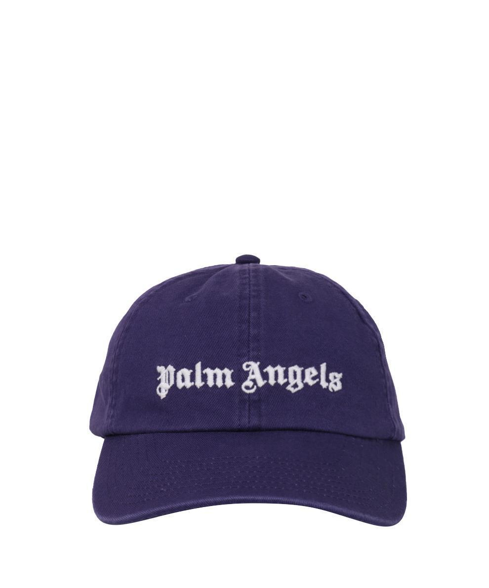 Lyst - Palm Angels Cappello Logo Cotone in Blue for Men 5a0212728352