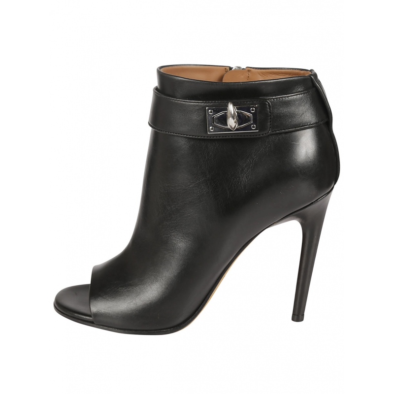 givenchy black shark lock ankle boots in black lyst