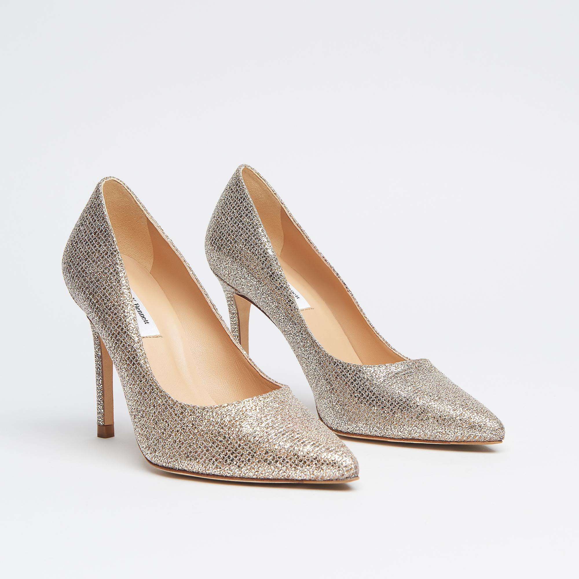 1ede6c819ab ... Fern Champagne Lurex Pointed Toe Courts - Lyst. View fullscreen