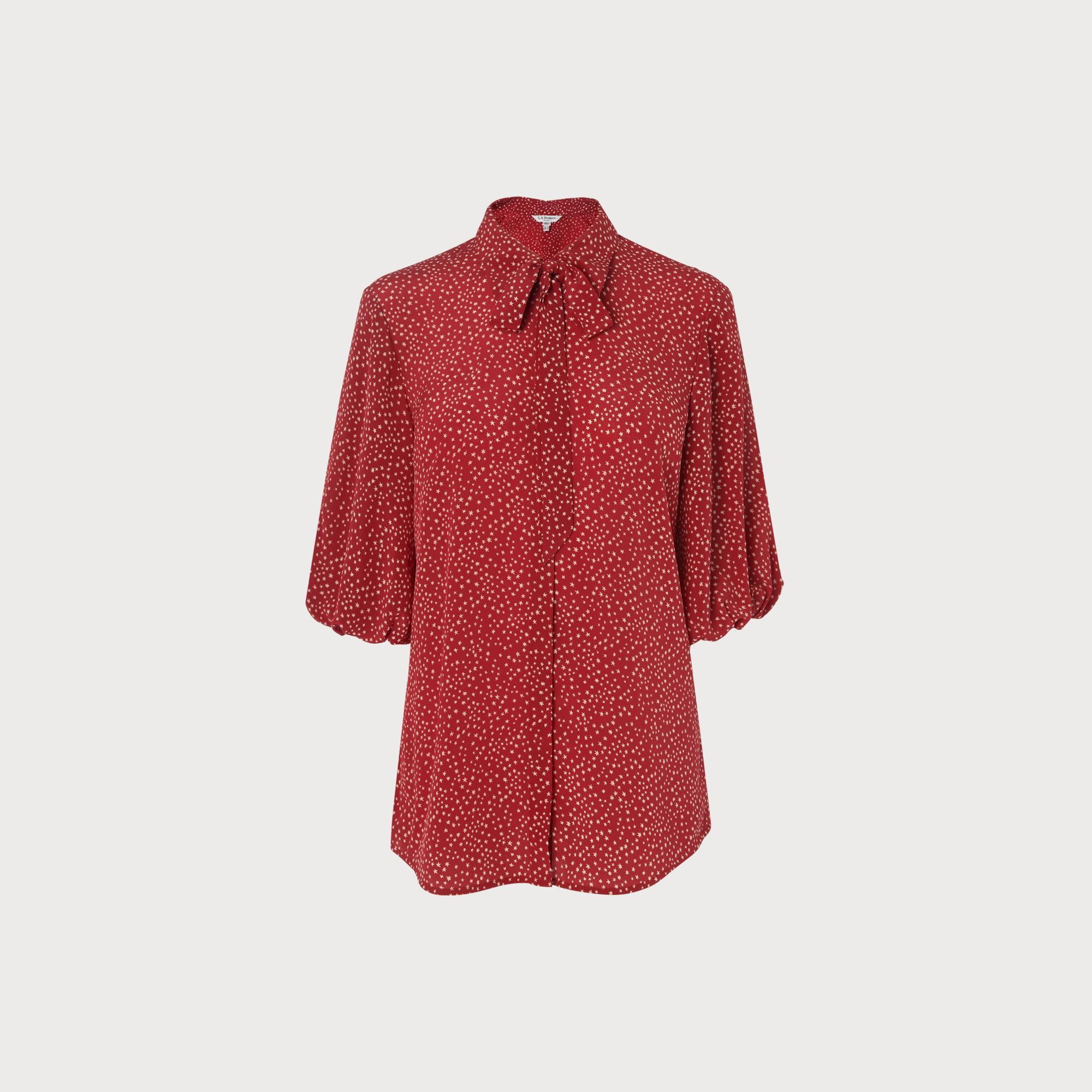064f6a3ecdab9 L.K.Bennett Silk Tillila Woven Top in Red - Lyst