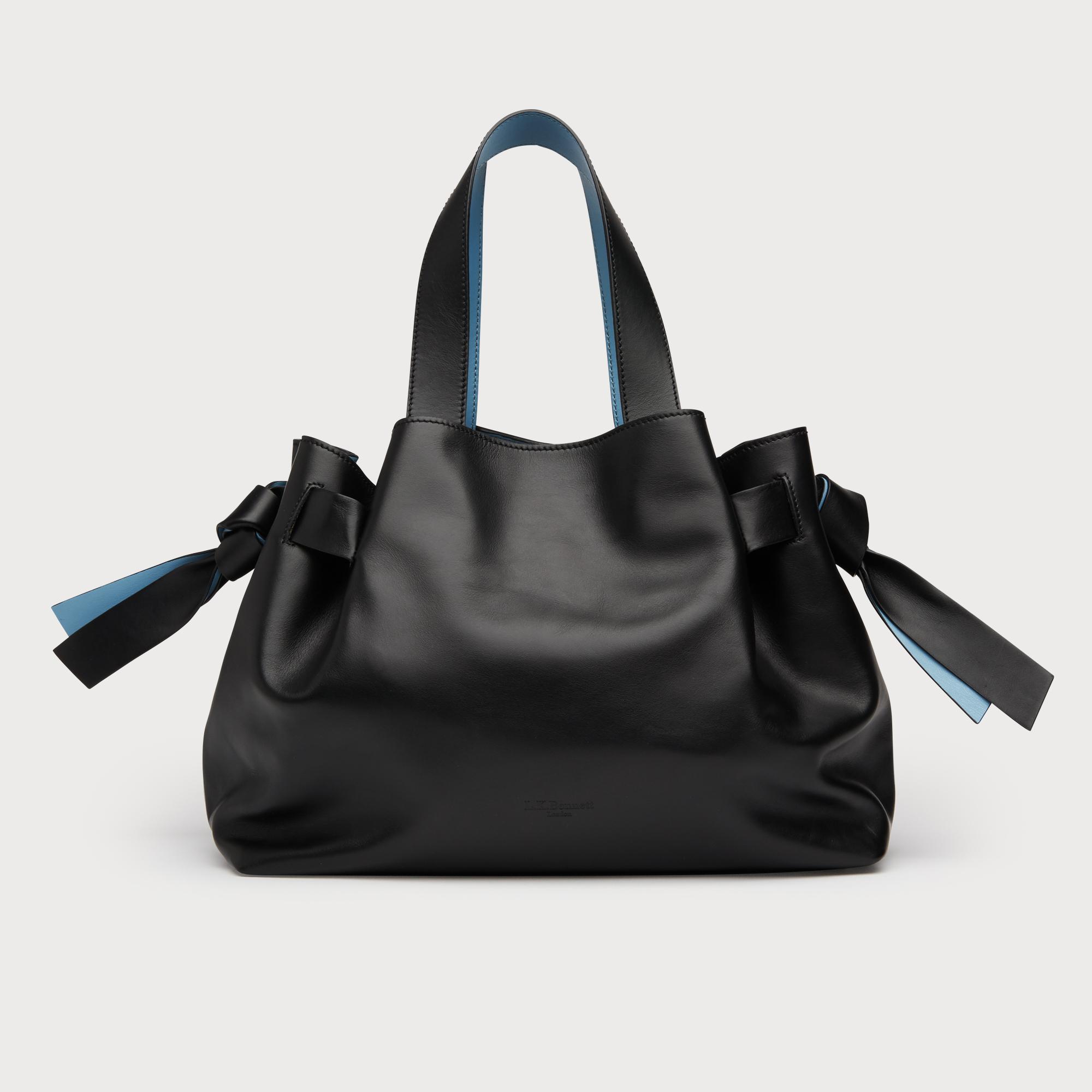 e100e779d7e7 Lyst - L.K.Bennett Geraldine Black Leather Tote Bag in Black