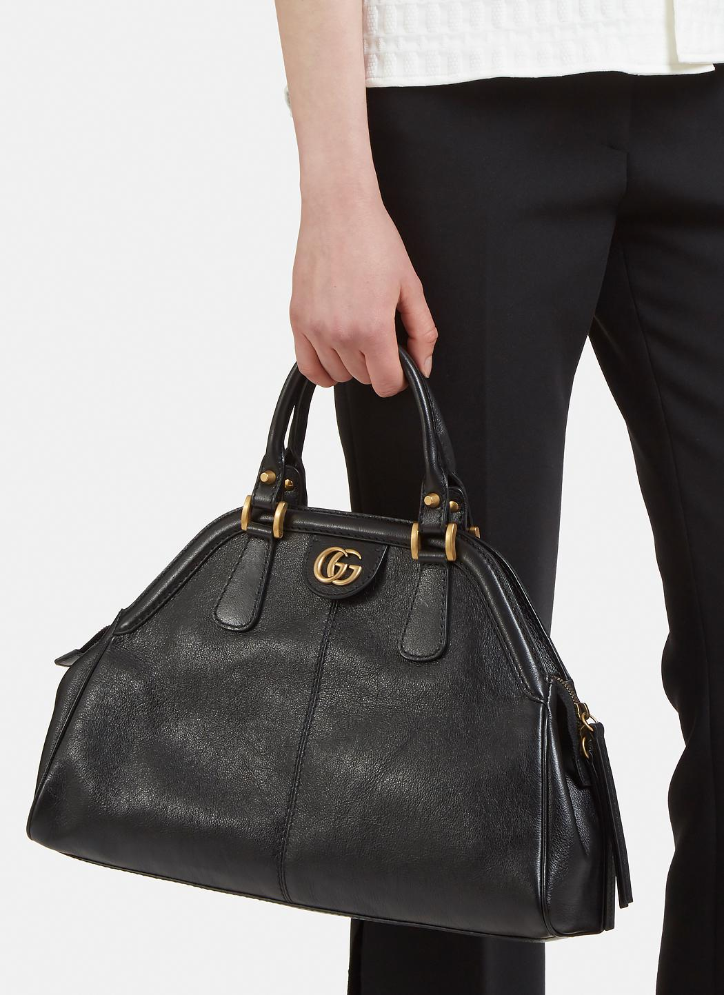 Lyst Gucci Rebelle Leather Handbag In Black Alma Mini Bag Gallery