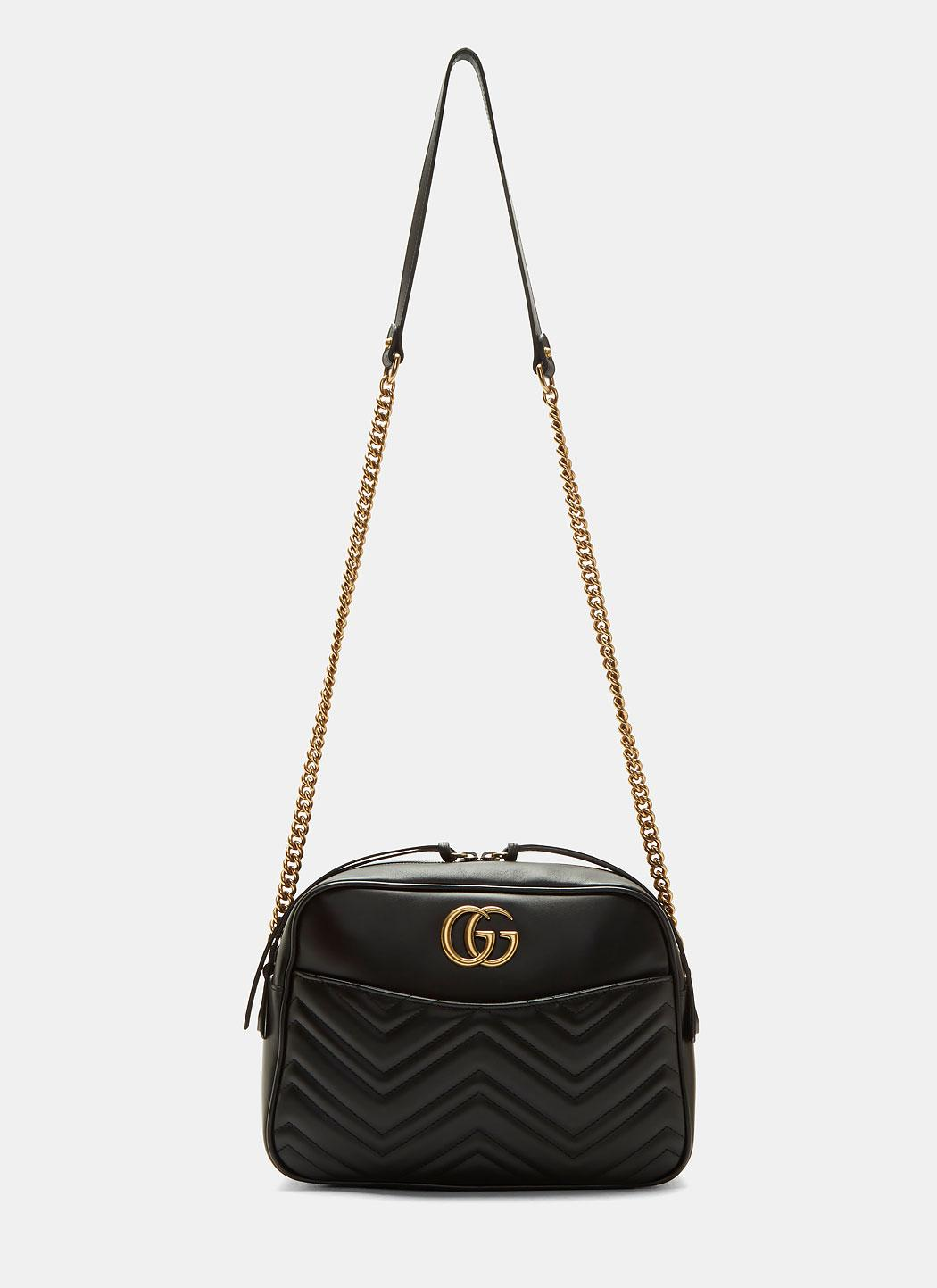 8071902730f Lyst - Gucci Gg Marmont Matelassé Small Shoulder Bag In Black in Black