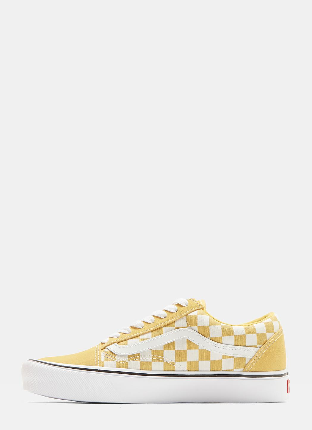 9d7fa4fcda74 Lyst - Vans Classic Old Skool Checkerboard Sneakers In Yellow in Yellow