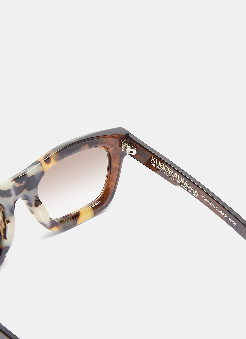 Kuboraum Mask C2 Tortoiseshell Squared Sunglasses In Brown for Men