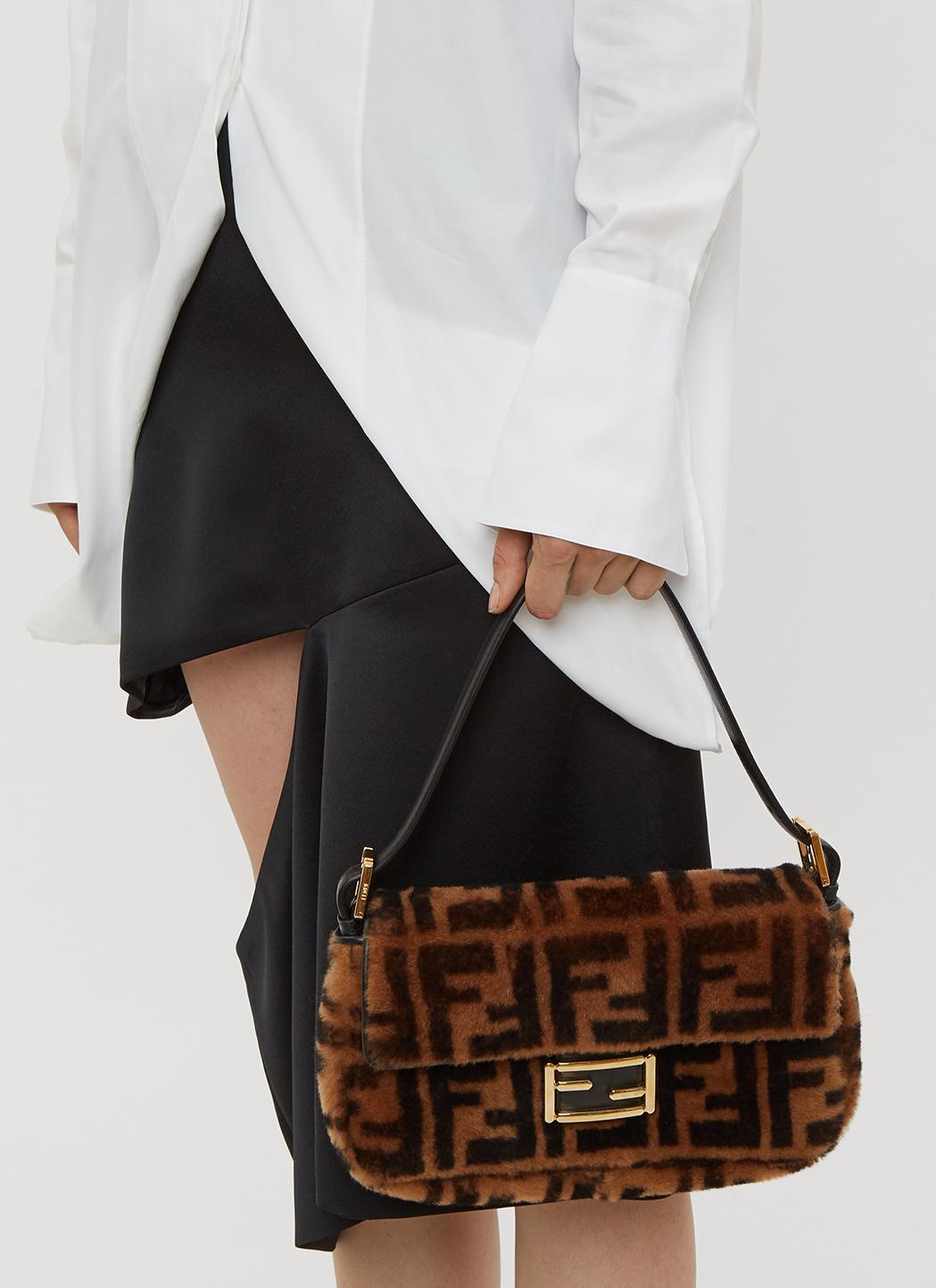 c0dcab1773 Fendi Baguette Sheepskin Bag In Brown