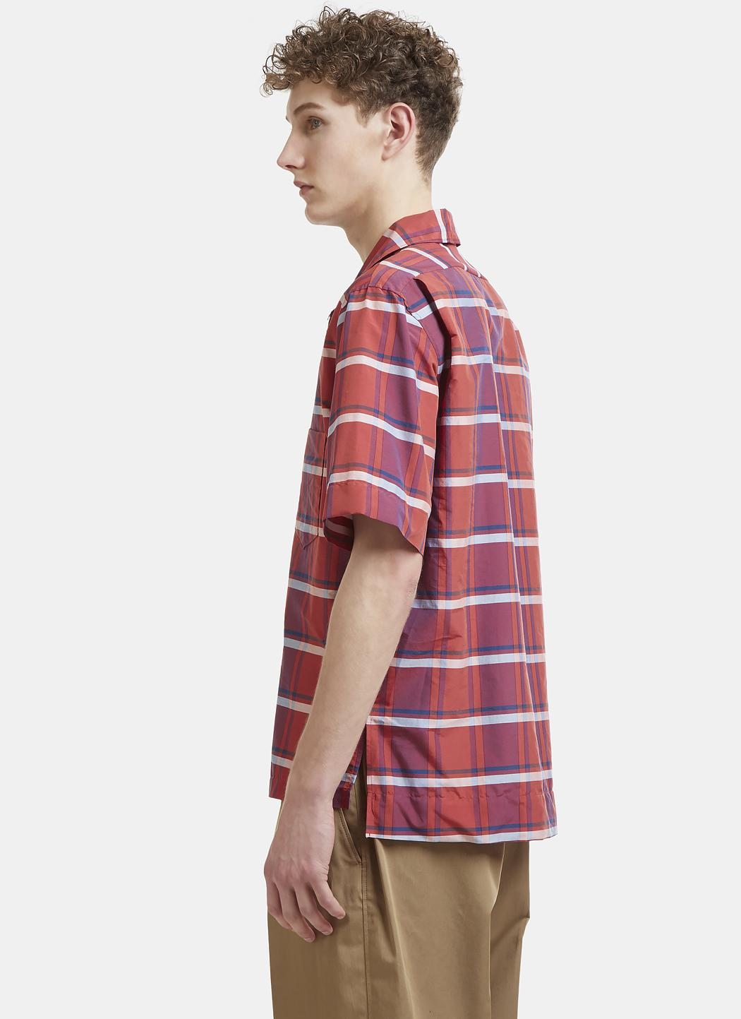 Acne Studios Cotton Shirt in Brick Red (Red) for Men
