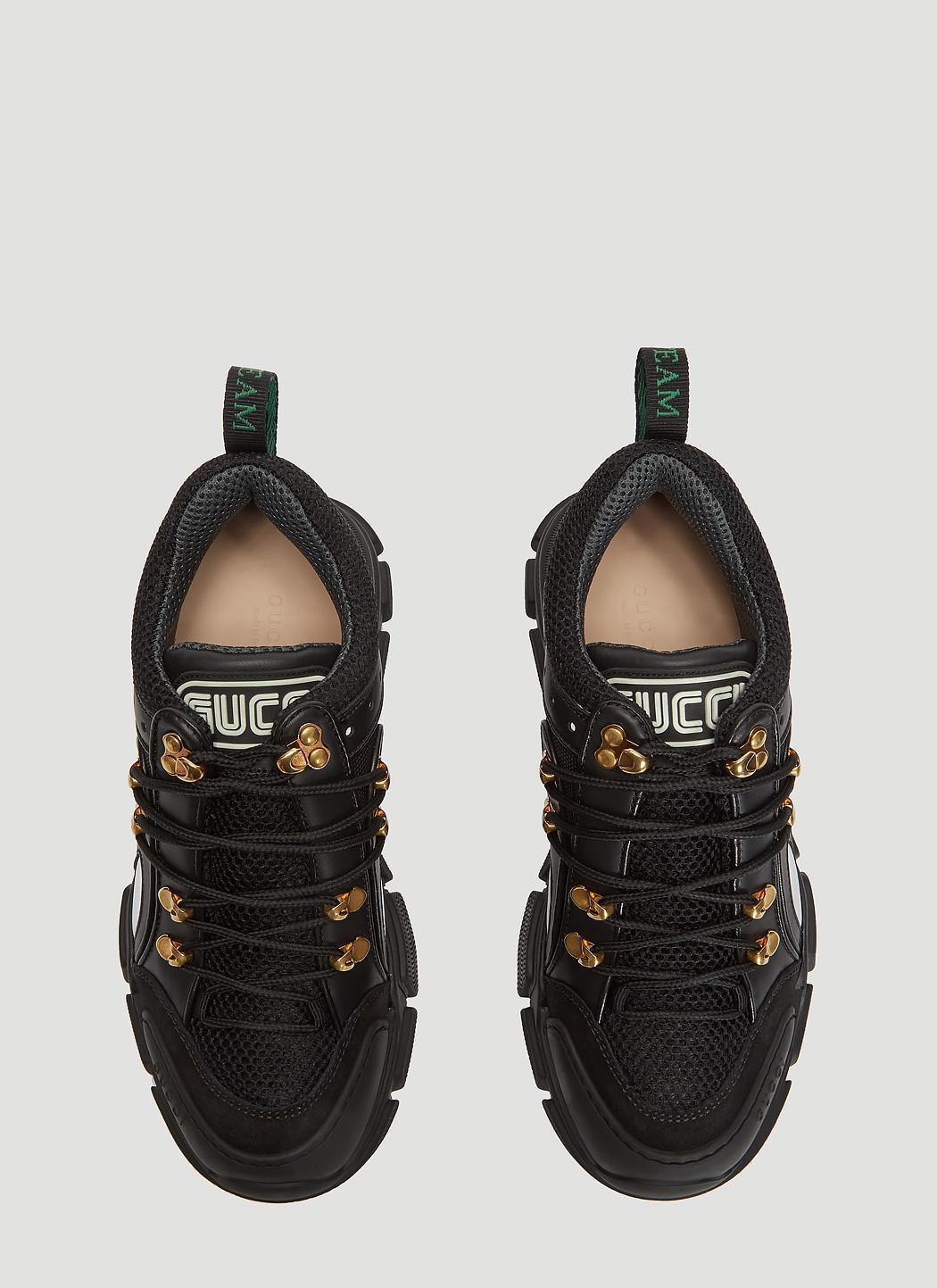 c1f55243afa1 Gucci - Black Chunky Flashtrek Sneakers - Lyst. View fullscreen