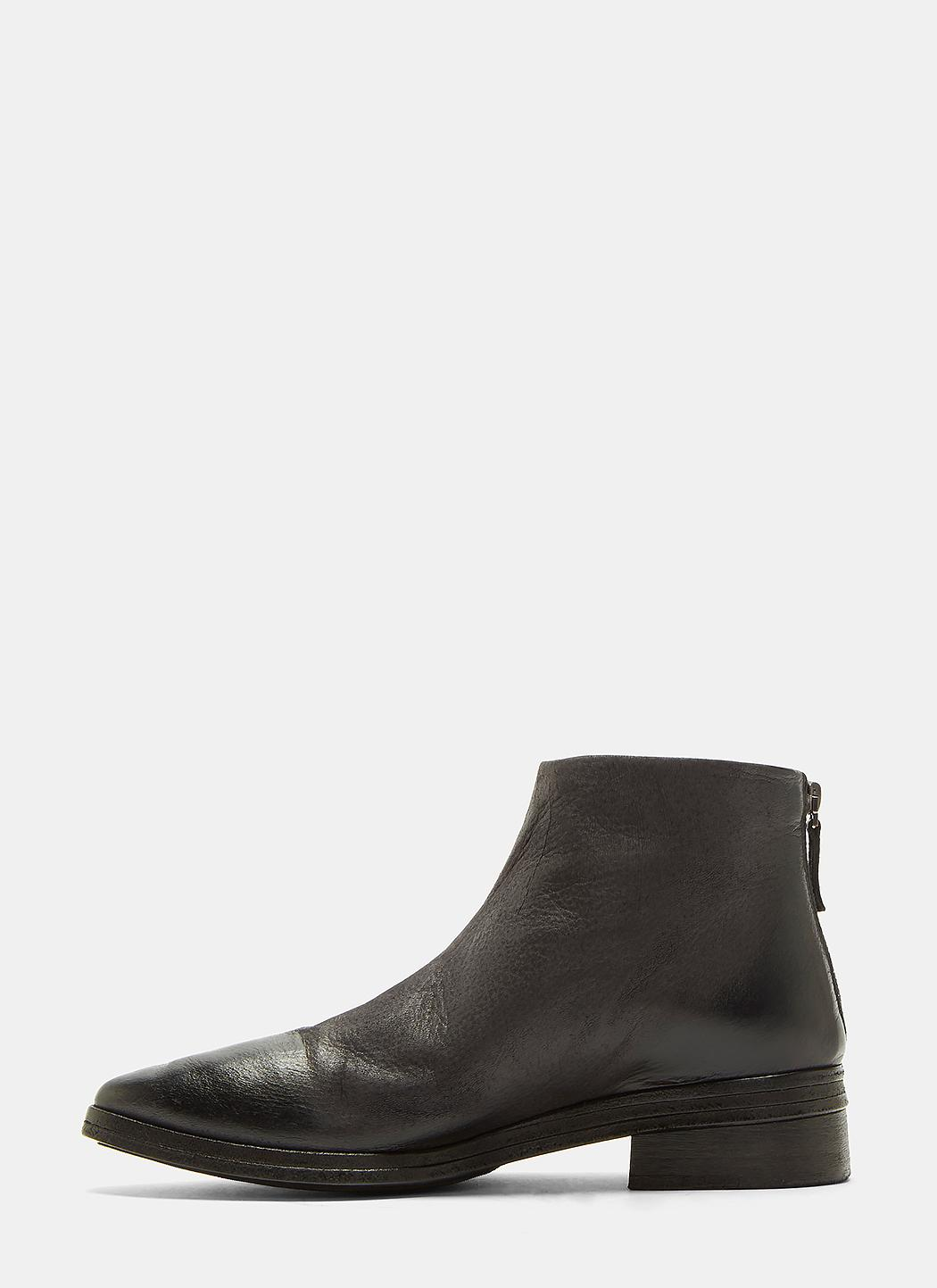 Marsèll Listone Neve Leather Ankle Boots In Black