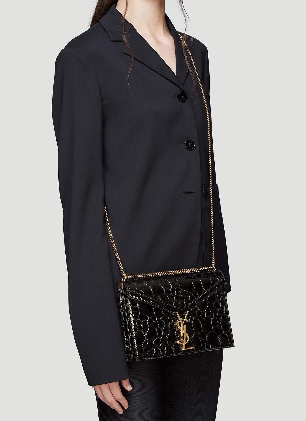 d45c33c4c4645 Saint Laurent Cassandra Slider Chain Turtle-embossed Leather Bag In ...