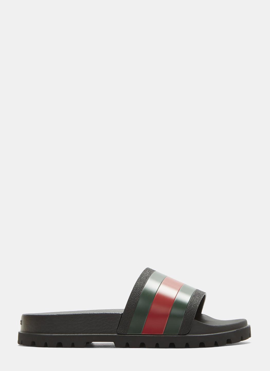 I4EnjgYMgb Tricolor Stripe Sandals