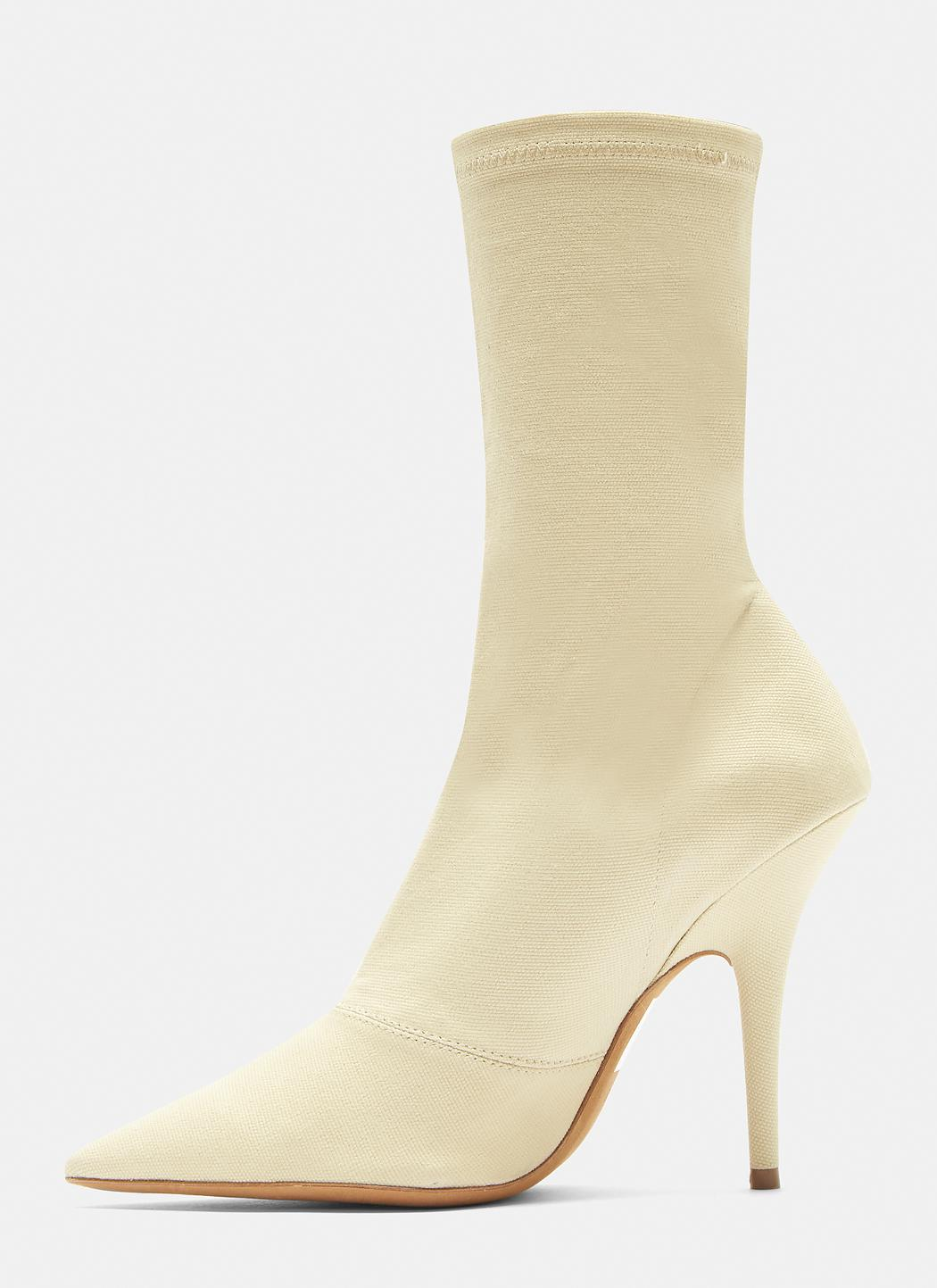 98f1e20b7 Lyst - Yeezy Canvas Ankle Boot 110mm Heel In Chalk in Natural