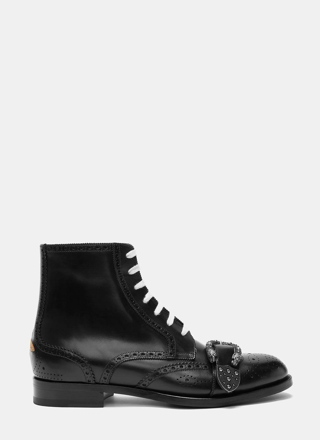 Gucci Black Queercore Boots For Men Lyst