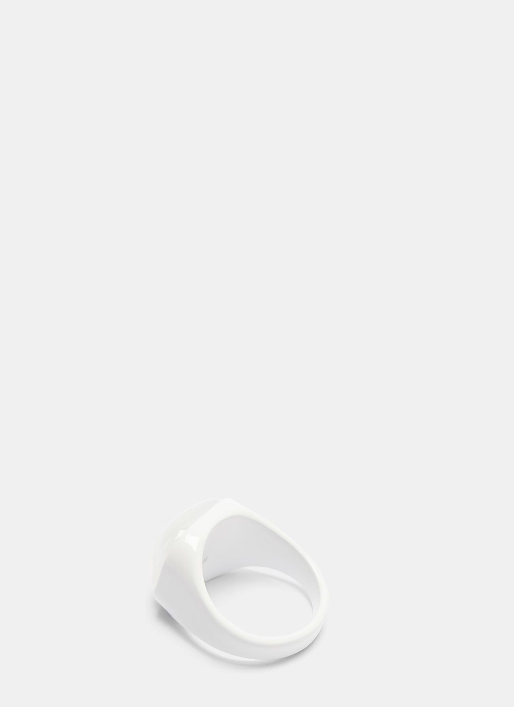 Maison Martin Margiela Painted Resin Signet Ring epo3zWFcc