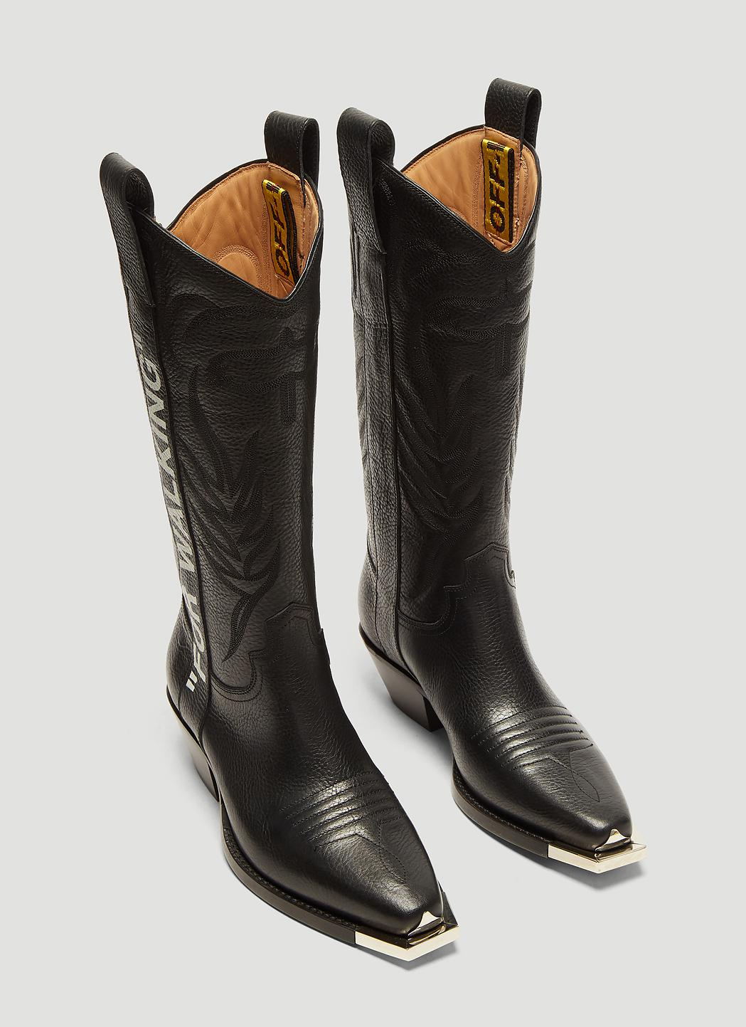 reasonably priced wide varieties cost charm Off-White c/o Virgil Abloh For Walking 40 Leather Western Boots In ...
