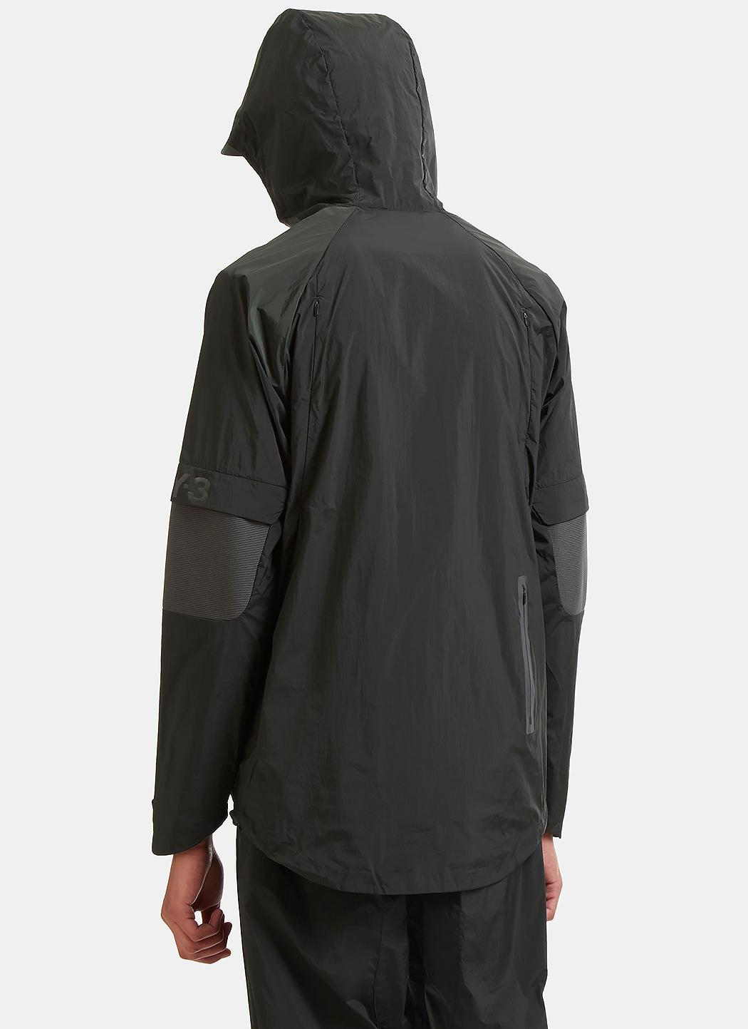 Y-3 Synthetic Ribbed Panel Technical Nylon Jacket In Dark Khaki for Men