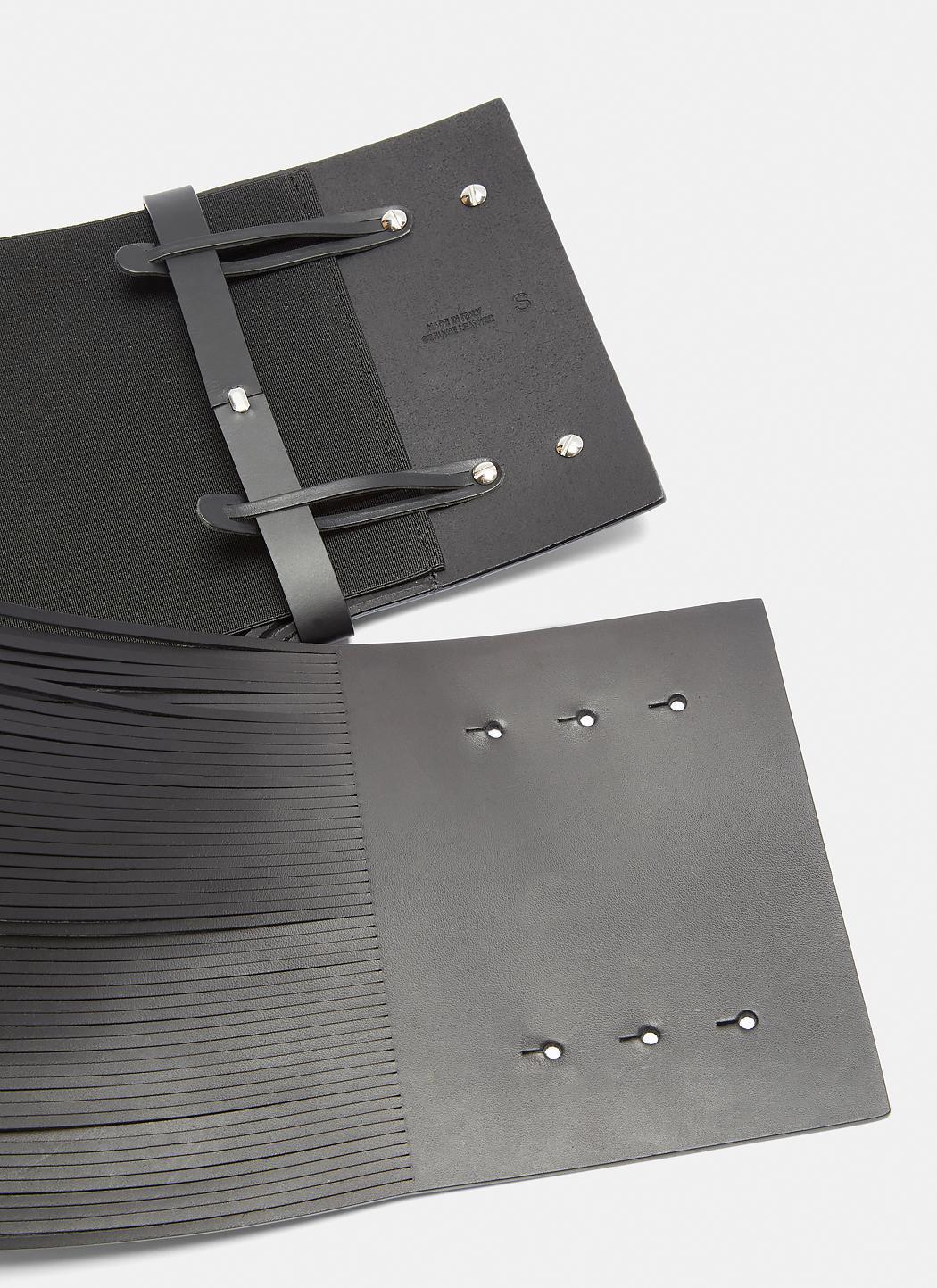 Wide Fringed Leather Waist Belt Maison Martin Margiela SDiL53lXg