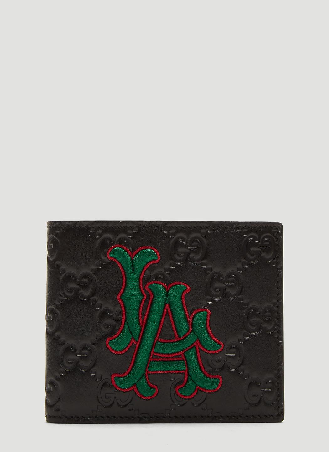 e0c8834d5b739 Gucci. Men s Black La Angelstm Patch Wallet