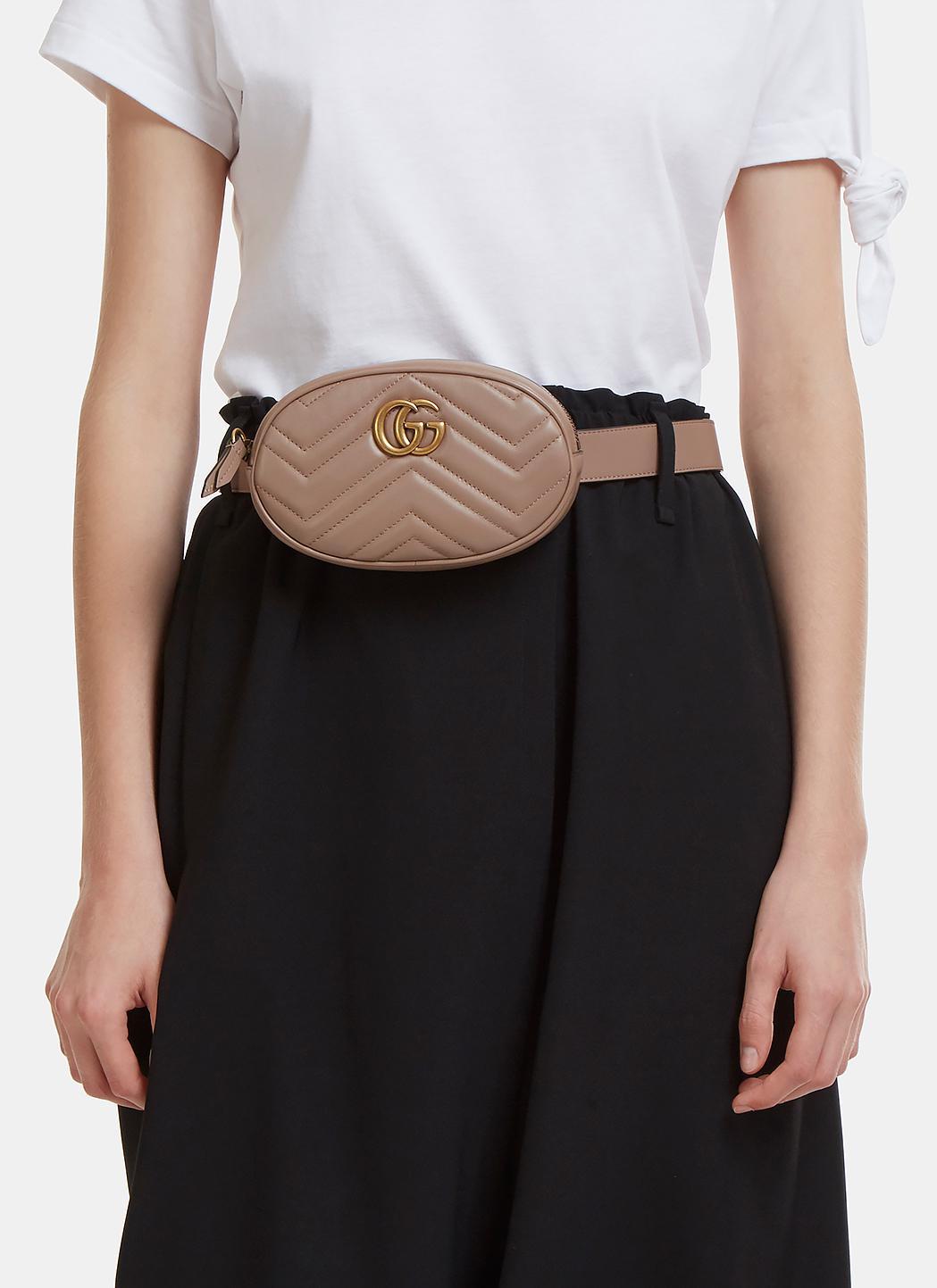 5210c776700 Lyst - Gucci Gg Mini Belt Bag In Brown in Brown