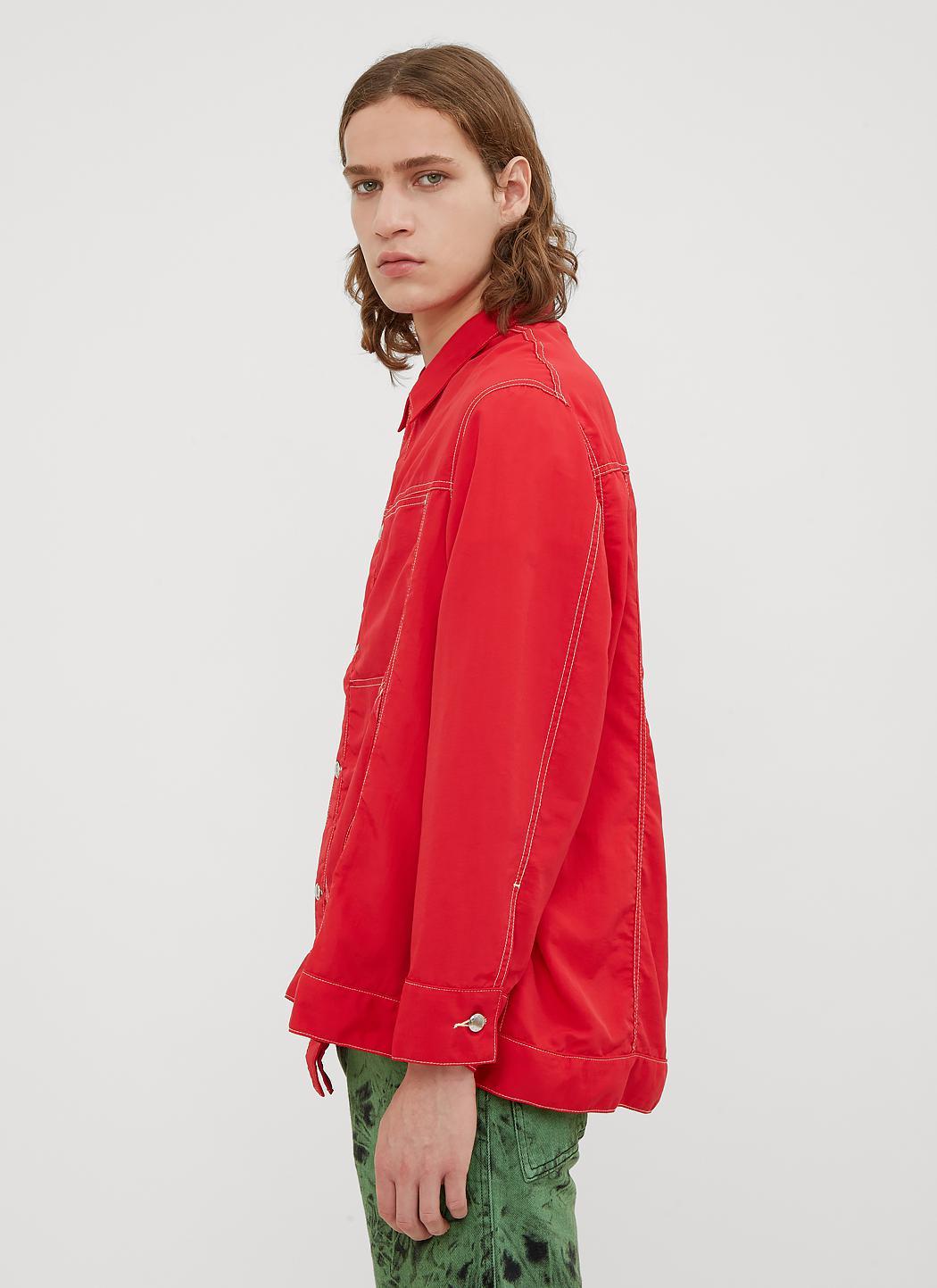 In Red Red Lyst Men Latta Jacket for Shirt Nylon Eckhaus Denim in HxTYCw6q