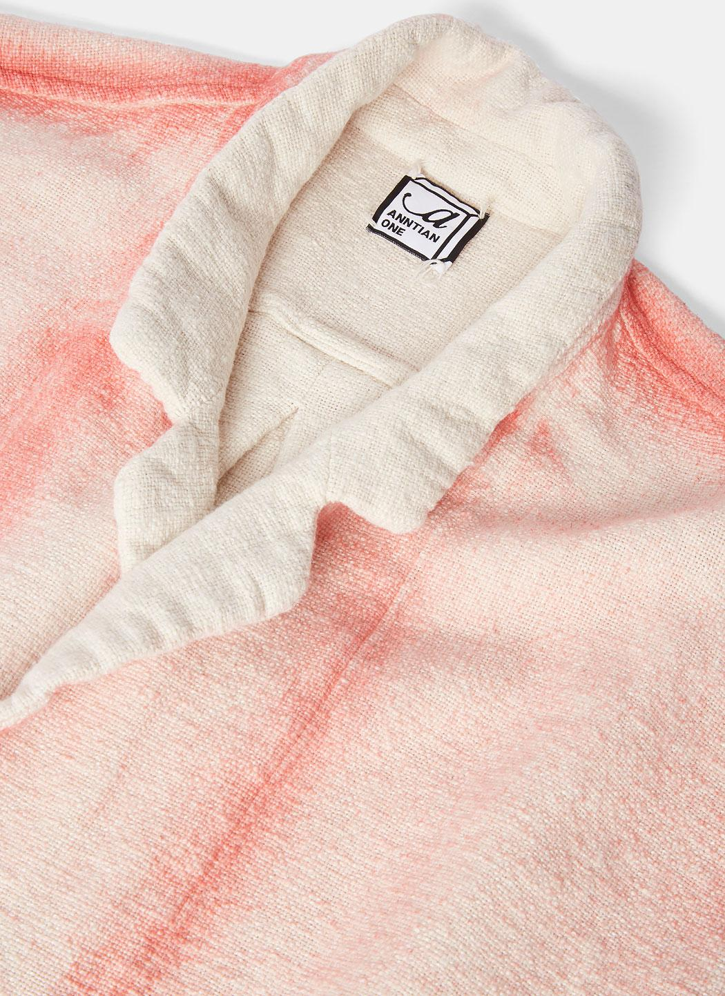 Anntian Cotton Men's Sakko Dyed Buttoned Jacket In Natural And Pink for Men