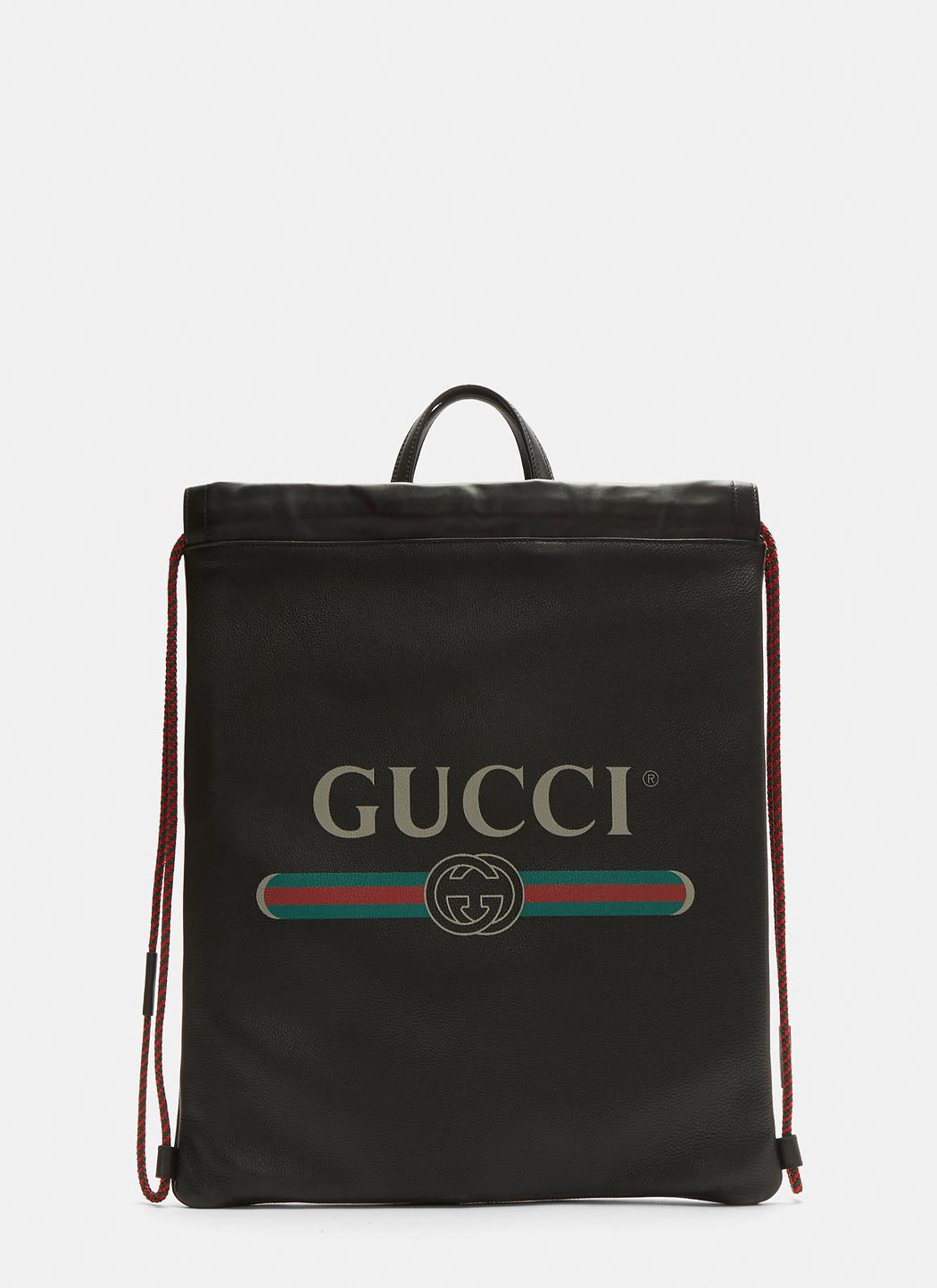 413f7395b24 Lyst - Gucci Print Zaino Bag In Black in Black