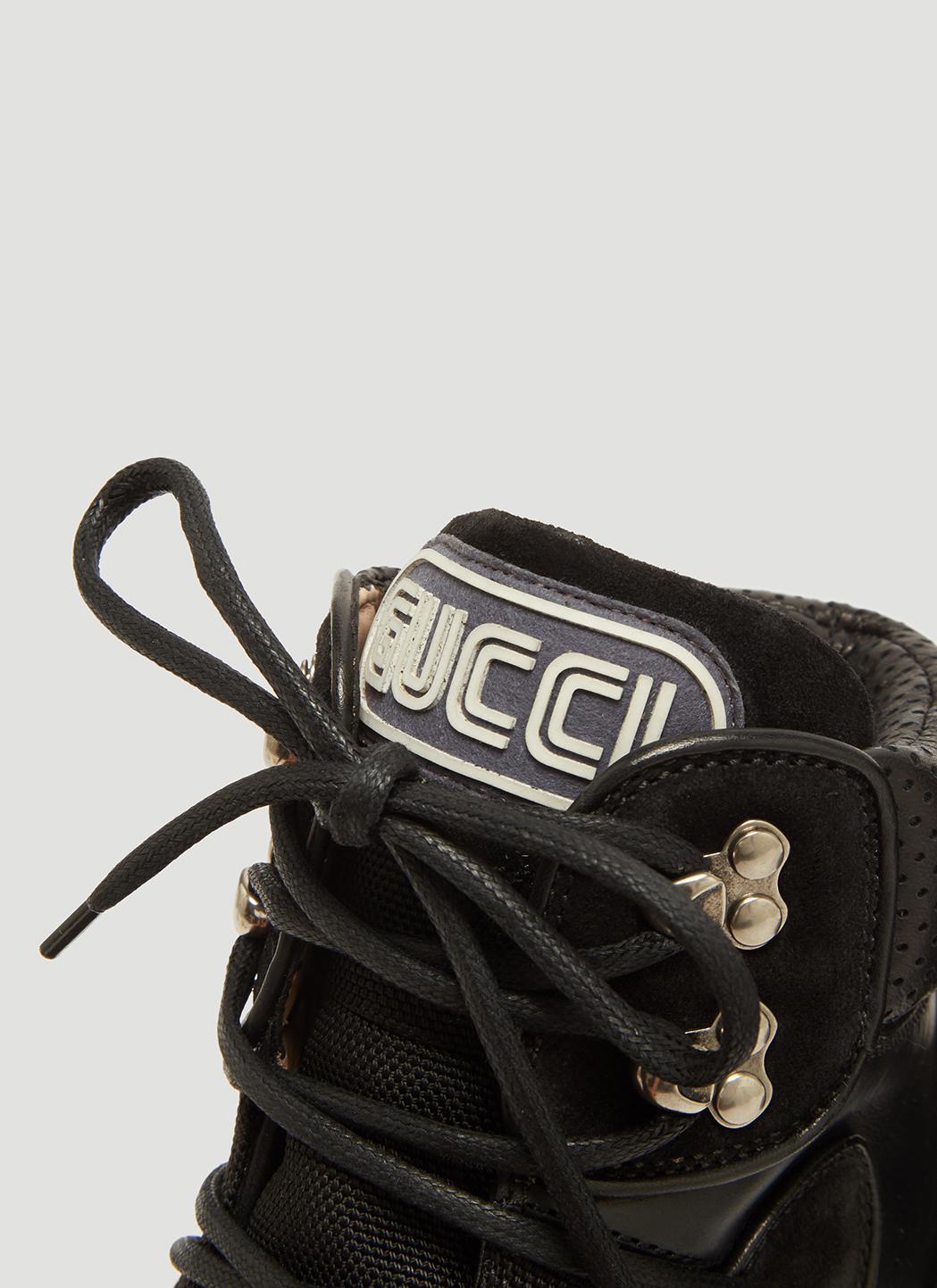 Lyst Gucci Flashtrek High Top Sneaker In Black Save Flash  Olivia Sneakers View Fullscreen