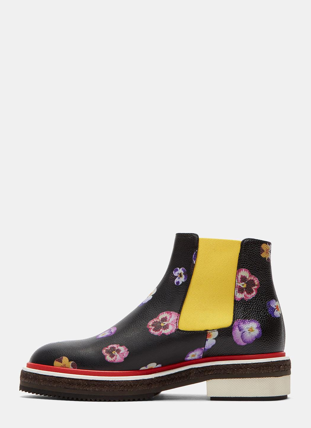 Christopher Kane Leather Women's Pansy Chelsea Boots In Black