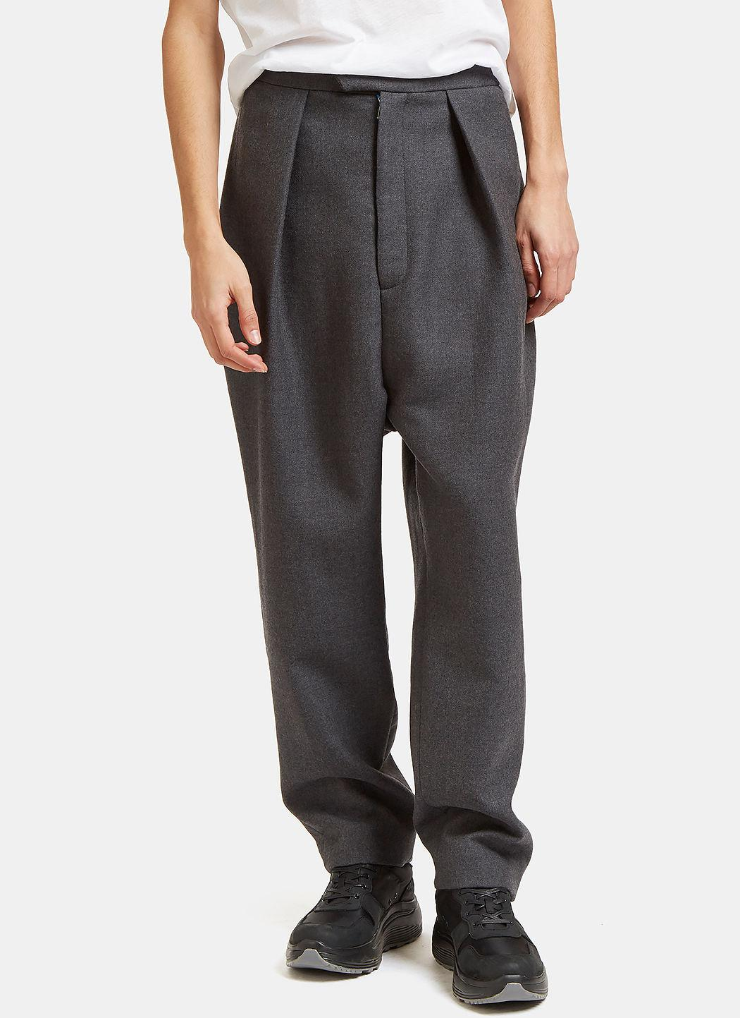 pleated tapered trousers Curieux Q1xohG