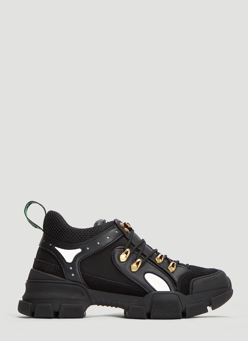 a69daaf169c8 Lyst - Gucci Chunky Flashtrek Sneakers in Black - Save 21%