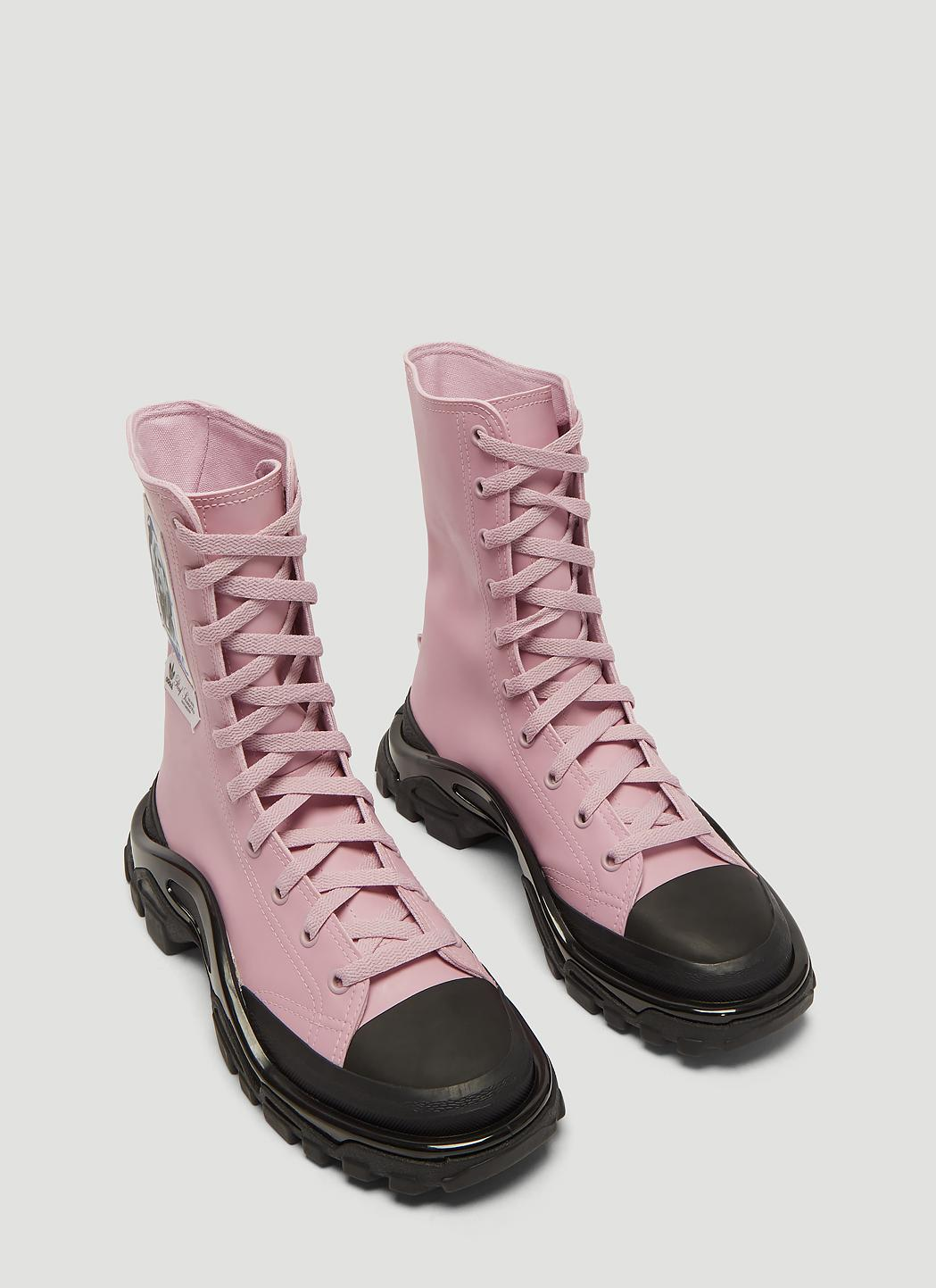 san francisco ab509 f1ee8 Adidas By Raf Simons - Detroit Boot Sneakers In Pink - Lyst. View fullscreen
