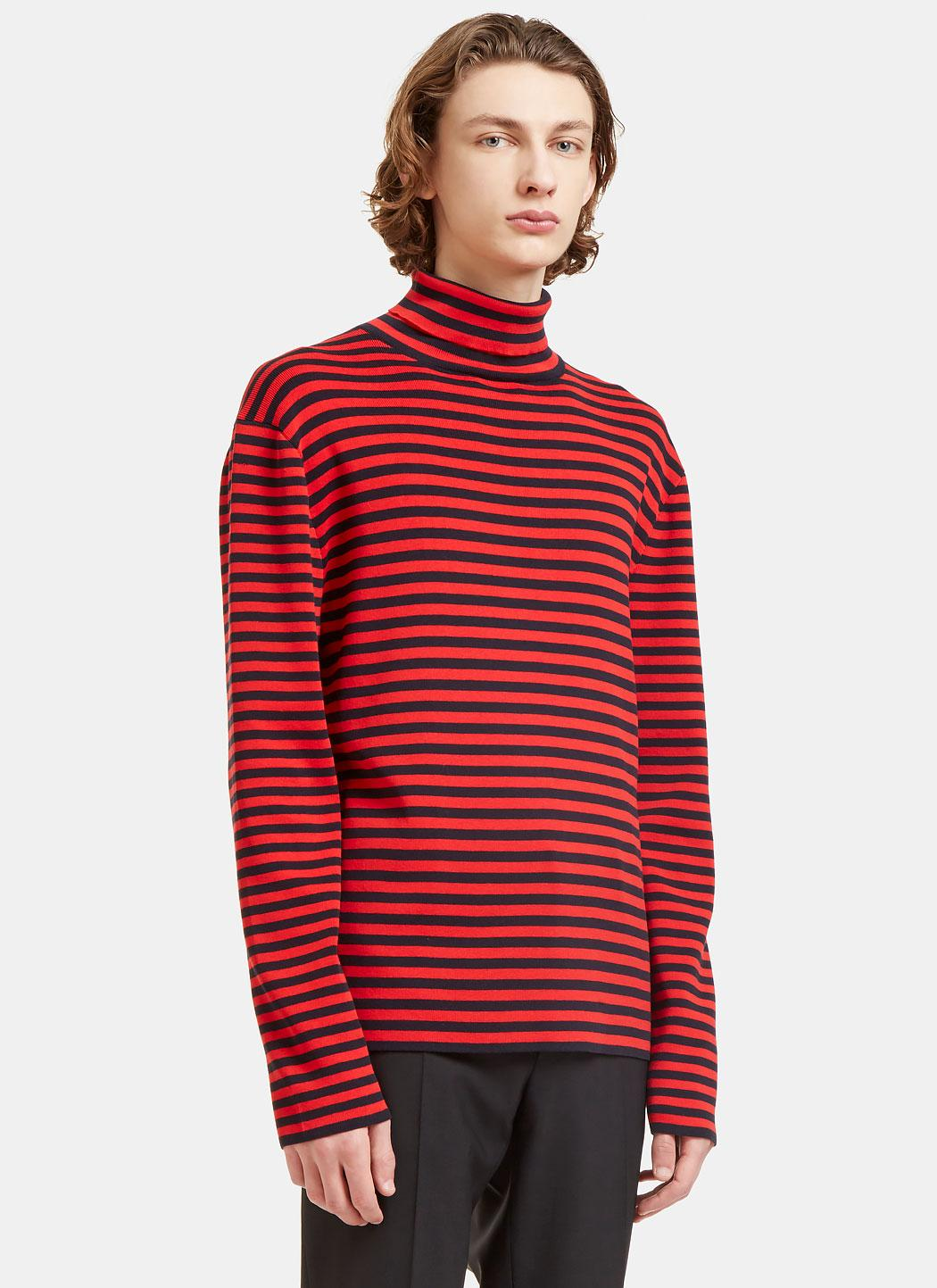 Cozy up in your new favorite knit! Both stylish and comfortable, add this Striped Sweater Knit to your fall/winter collection. Just one out of five, this collection features black stripes that alternate with fall staples and neutral tones for the perfect look.