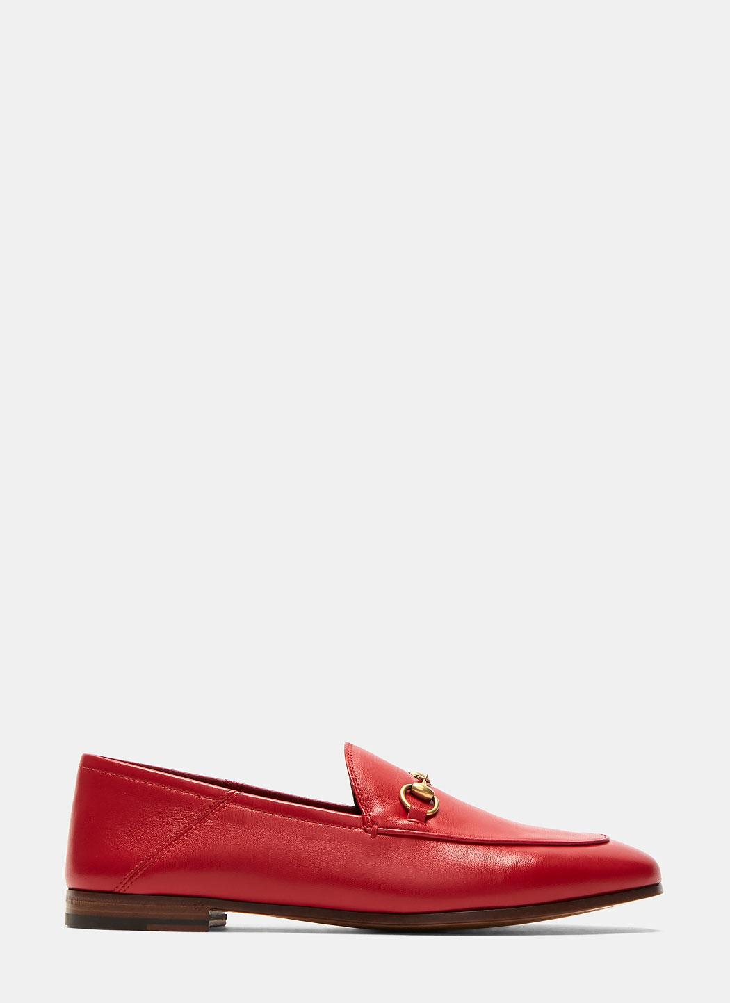 Gucci Women S Jordaan Classic Leather Slip On Loafers In