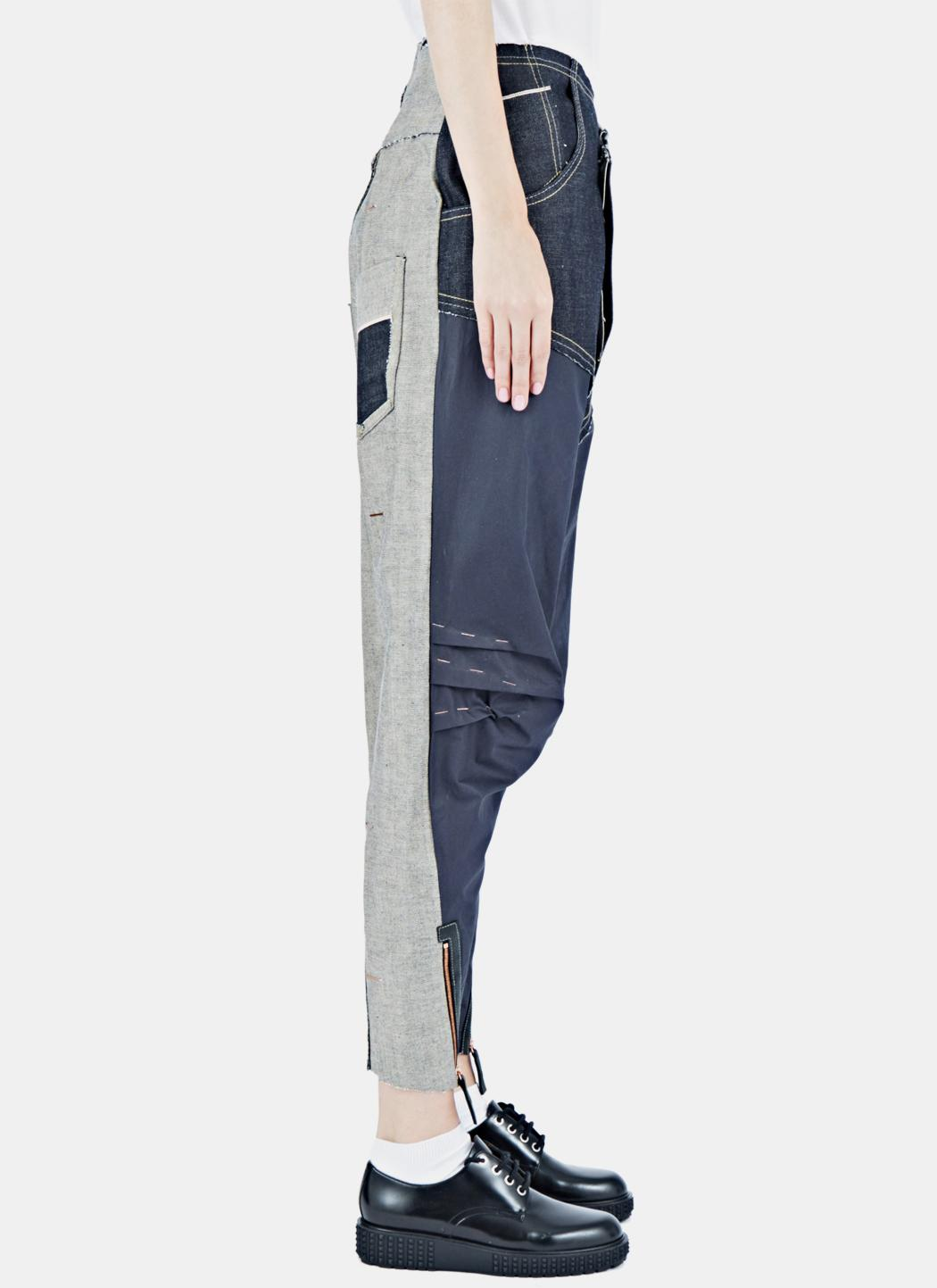 Hannah Jinkins Denim Women's Cross Fly Wet Gloss Jeans In Indigo in Grey