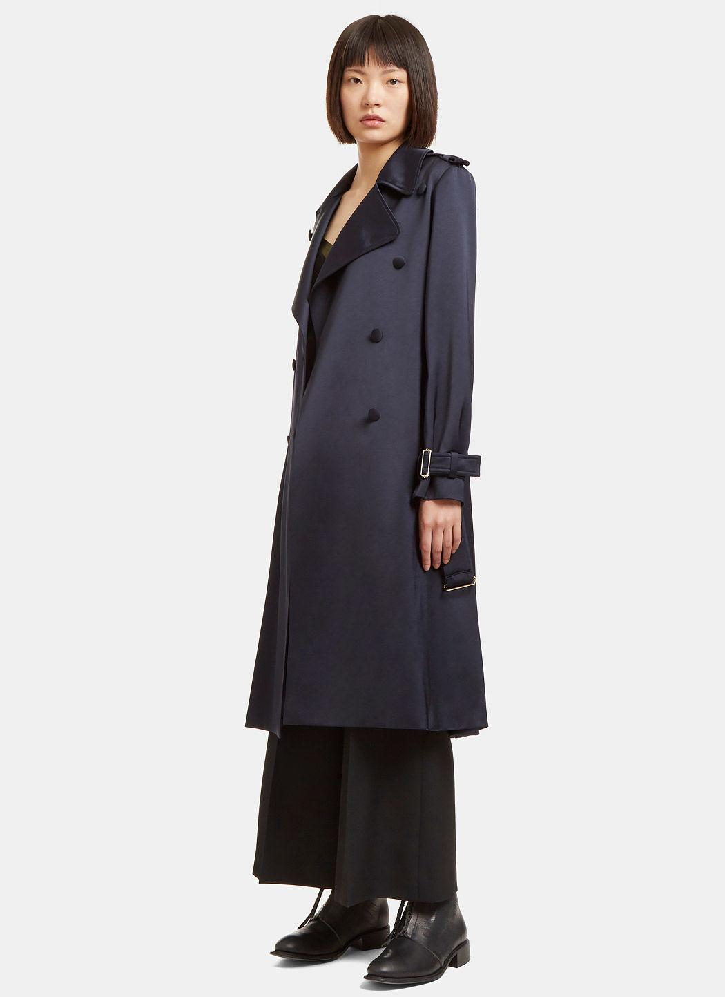 Navy blue trench coat women