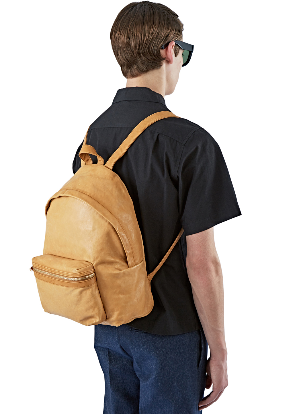 Saint laurent Men's Hunting Tuscany Leather Backpack In Tan in ...