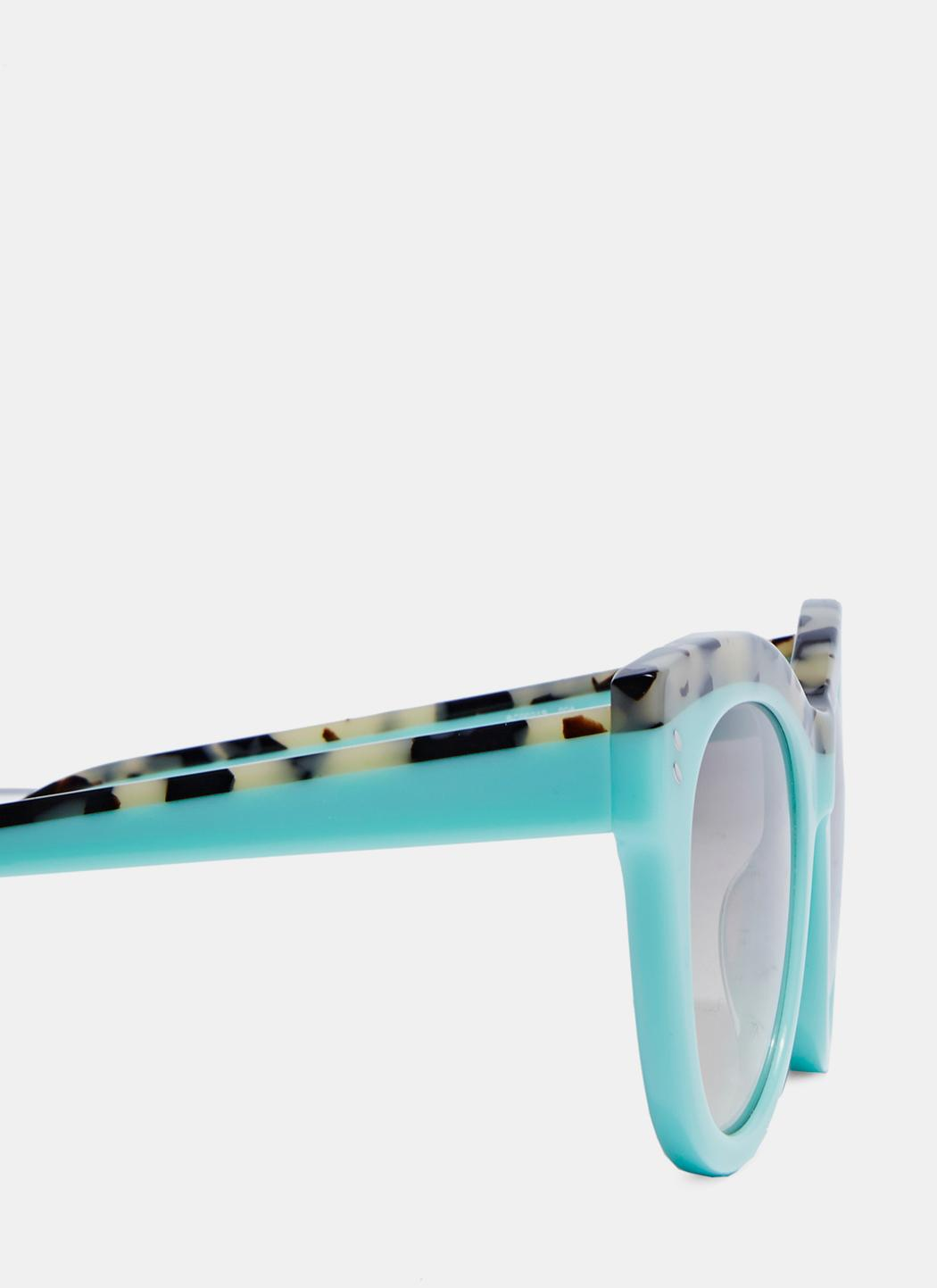 Stella McCartney Women's Classic Oversized Sunglasses In Mint And Grey in Blue
