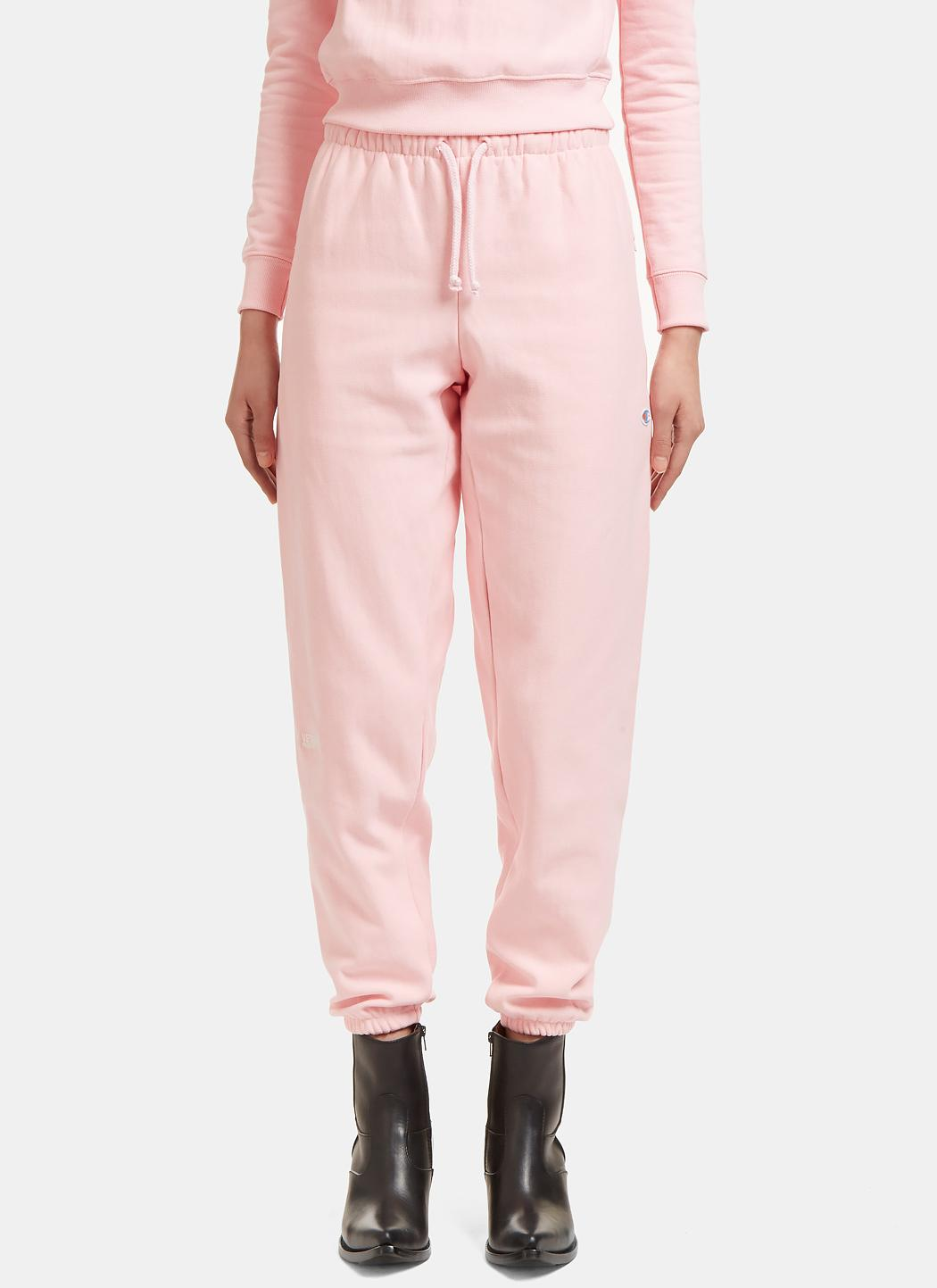 Vetements Women's Champion Logo Track Pants In Pink in ...