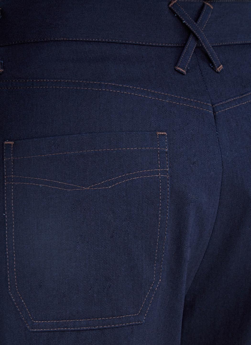 Wales Bonner Denim Men's Isaac Wide Leg Flared Jeans In Indigo in Blue for Men