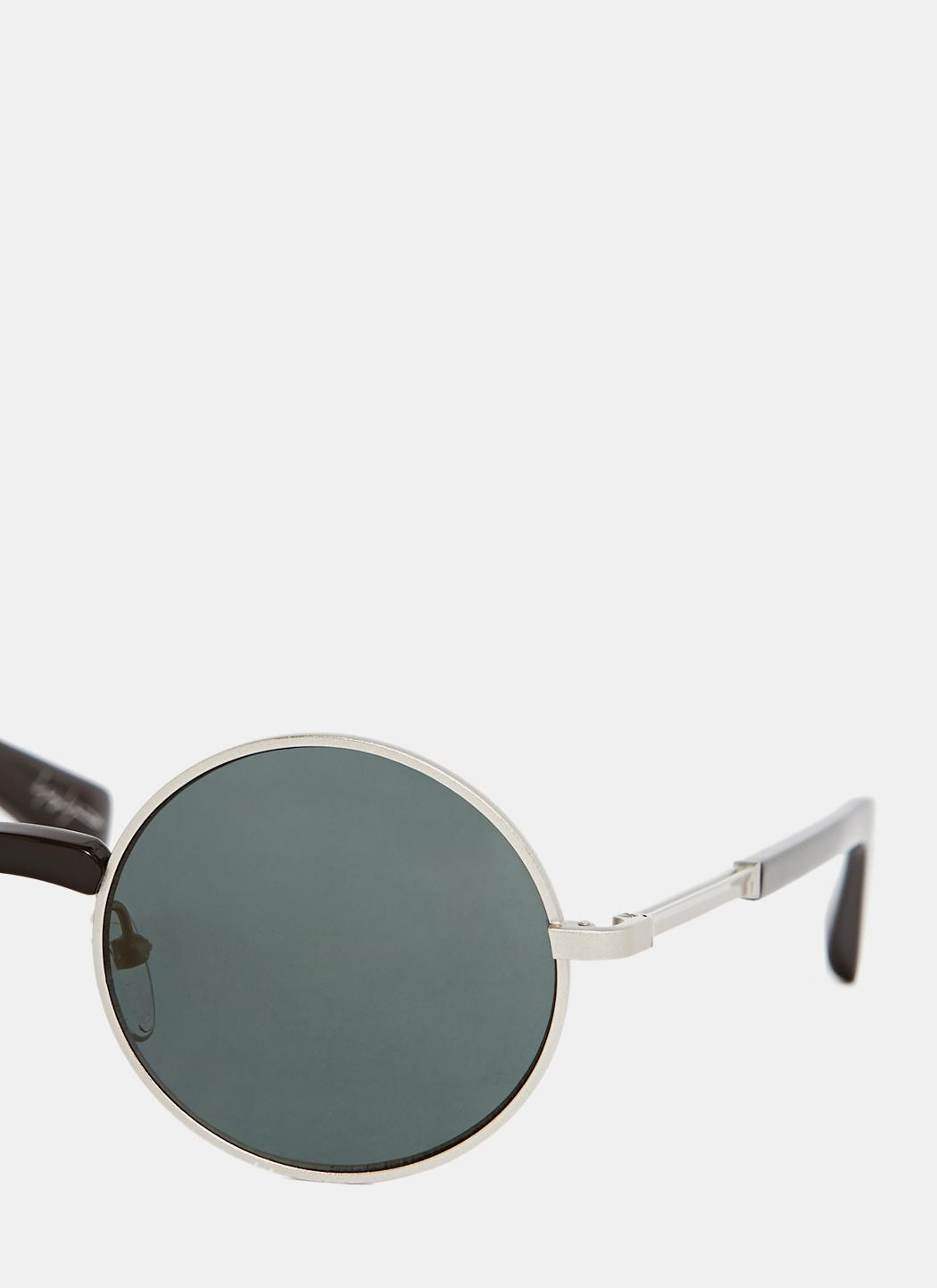 Yohji Yamamoto Men's Yy7002 Sunglasses In Silver in Metallic