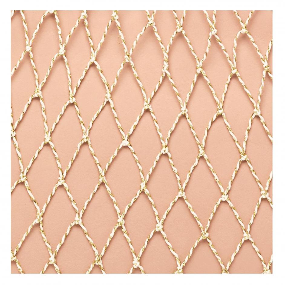 Loeffler Randall Leather Adrienne Net Tote Set in Pink