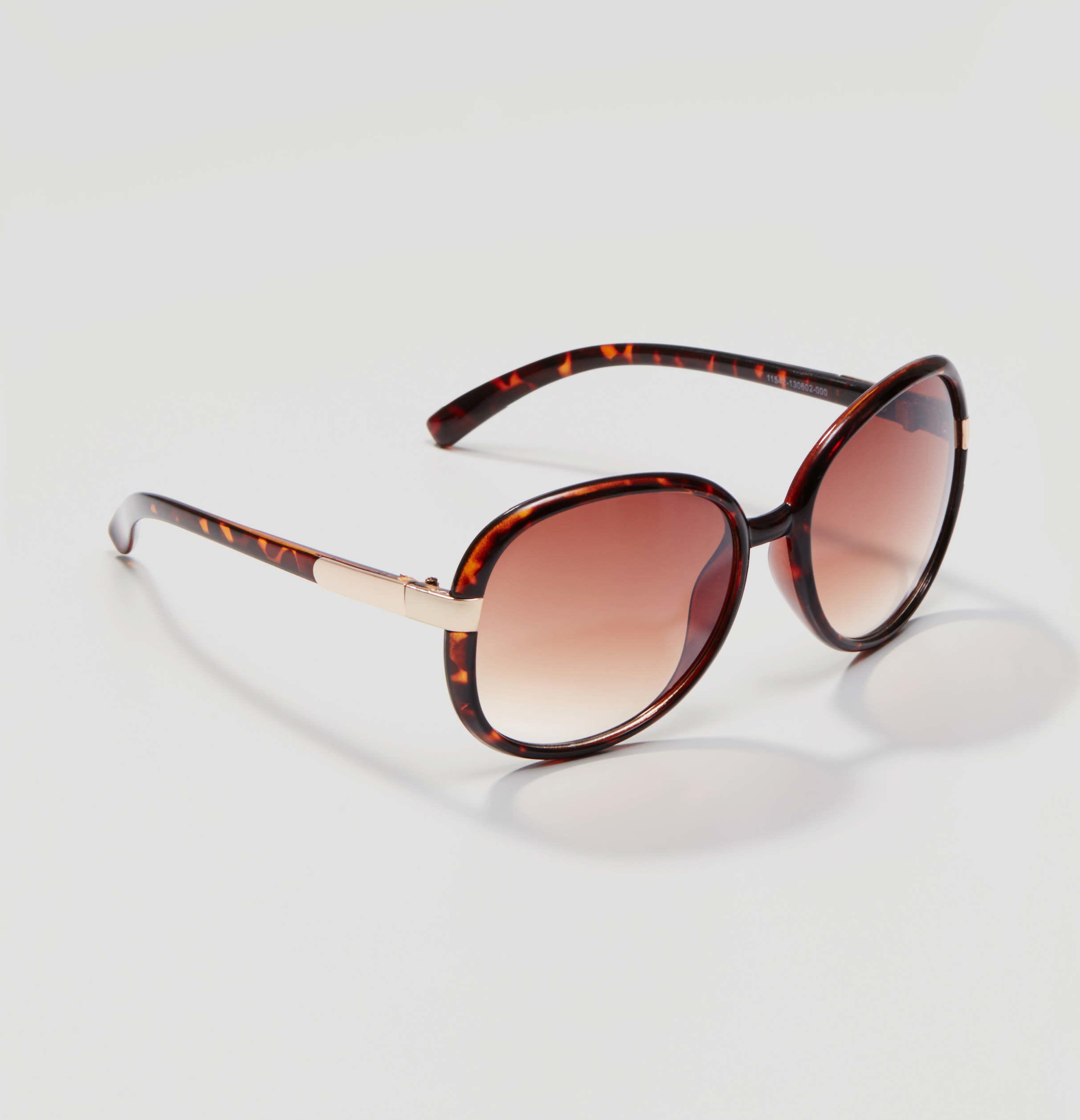 Loft Oversized Round Sunglasses In Brown Lyst