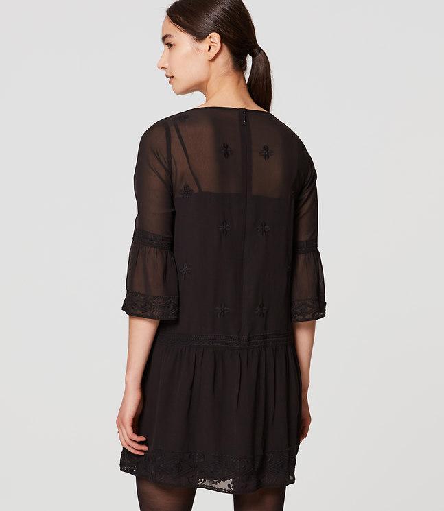 Loft Lacy Flounce Dress